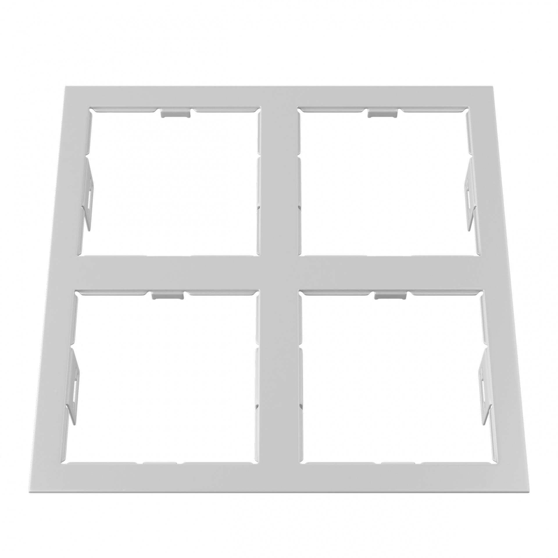 Рамка Domino quadro 2х2 MR16 белый Lightstar 214546, купить в СПб, Москве, с доставкой, Санкт-Петербург, интернет-магазин люстр и светильников Starlight, фото в жизни