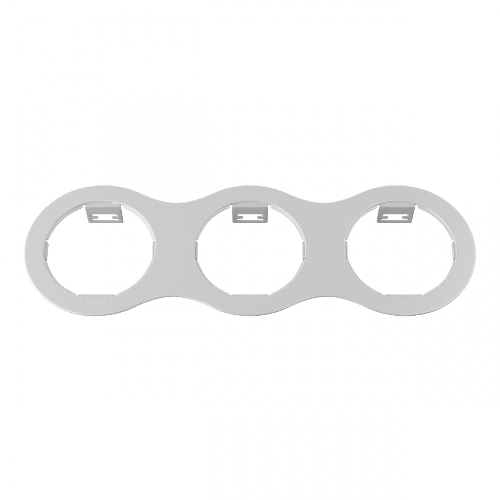 Рамка Domino Triple ROUND МR16 белый Lightstar 214636, купить в СПб, Москве, с доставкой, Санкт-Петербург, интернет-магазин люстр и светильников Starlight, фото в жизни