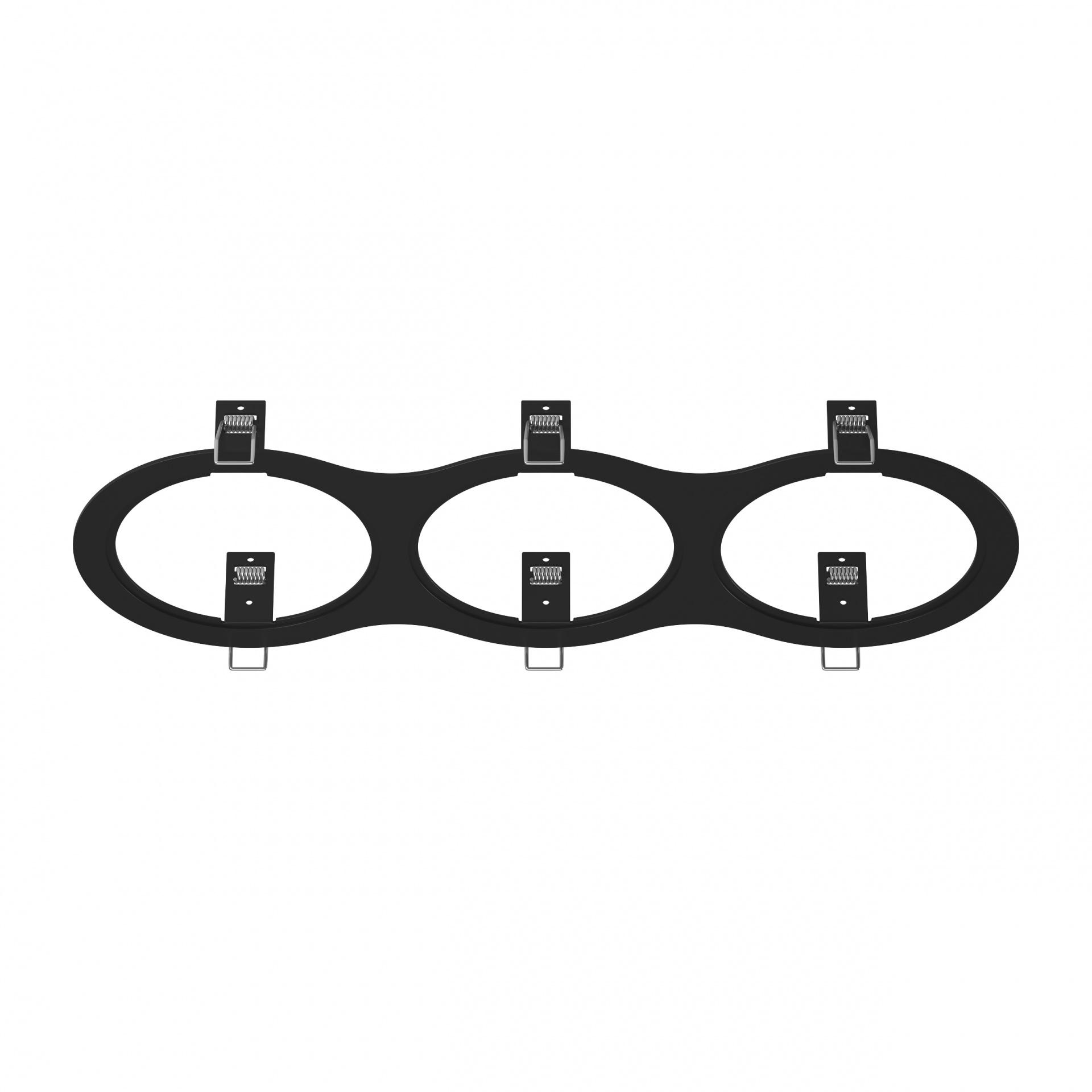 Рамка Intero 111 Triple ROUND черный Lightstar 217937, купить в СПб, Москве, с доставкой, Санкт-Петербург, интернет-магазин люстр и светильников Starlight, фото в жизни