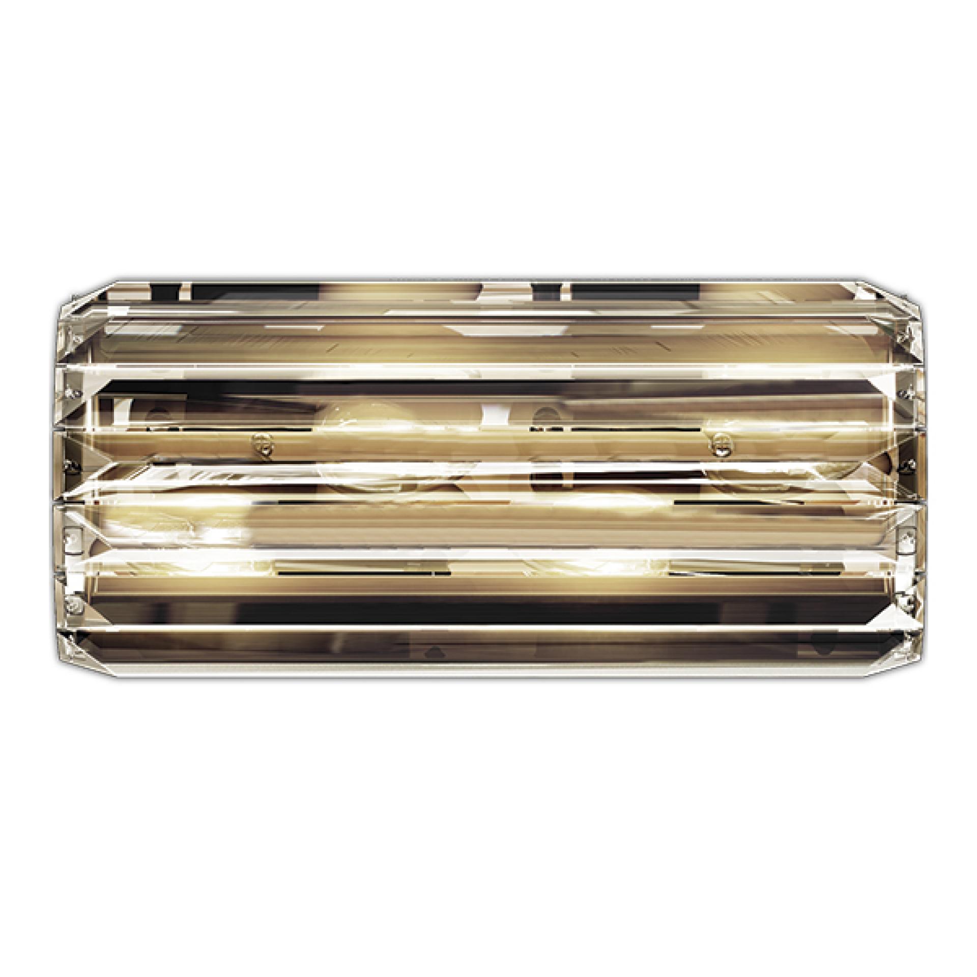 Бра Limpio 6х20W G9 черный хром / прозрачный Osgona 722660, купить в СПб, Москве, с доставкой, Санкт-Петербург, интернет-магазин люстр и светильников Starlight, фото в жизни