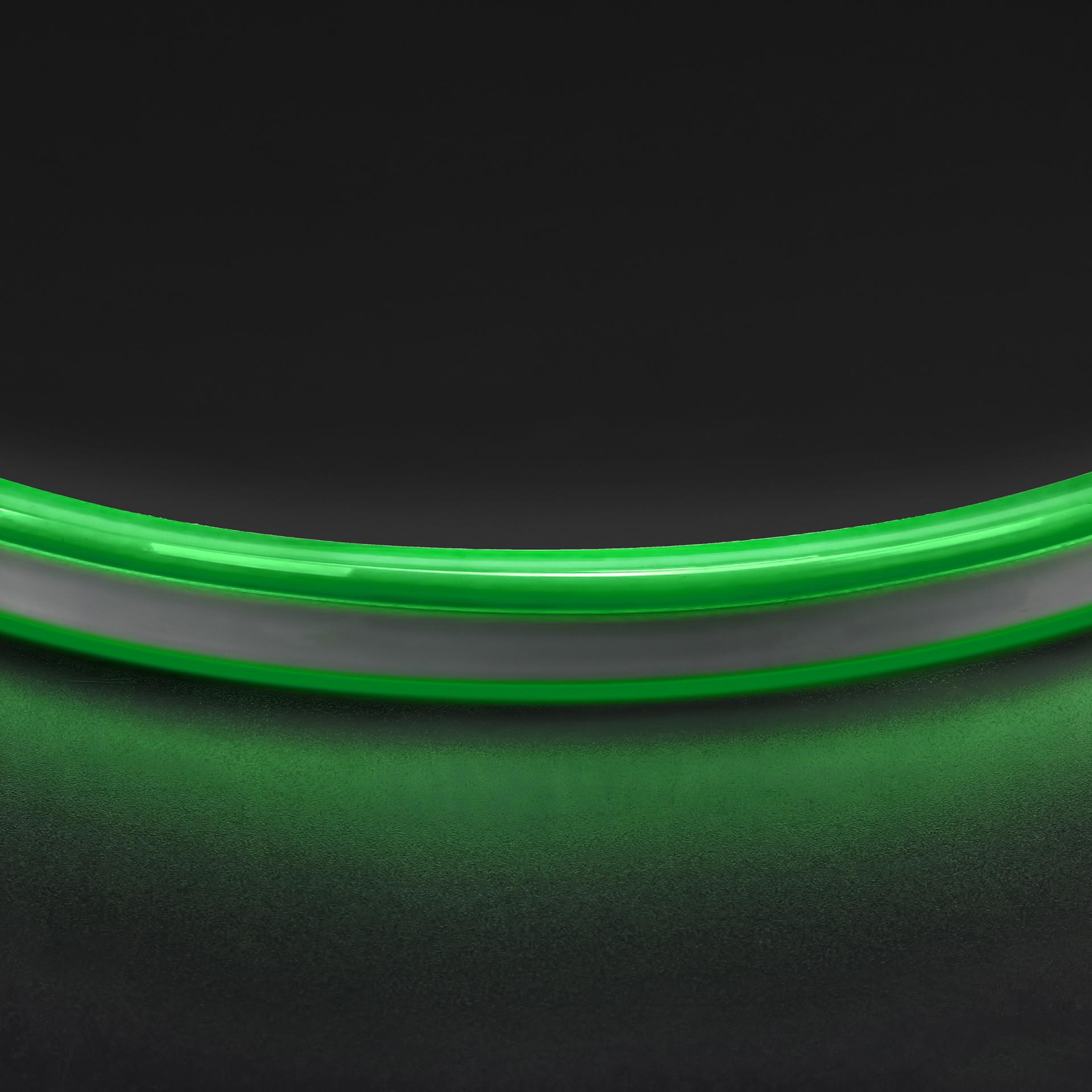 Лента гибкая неоновая NEOLED 220V 120 LED зеленый цвет IP65 Lightstar 430107, купить в СПб, Москве, с доставкой, Санкт-Петербург, интернет-магазин люстр и светильников Starlight, фото в жизни