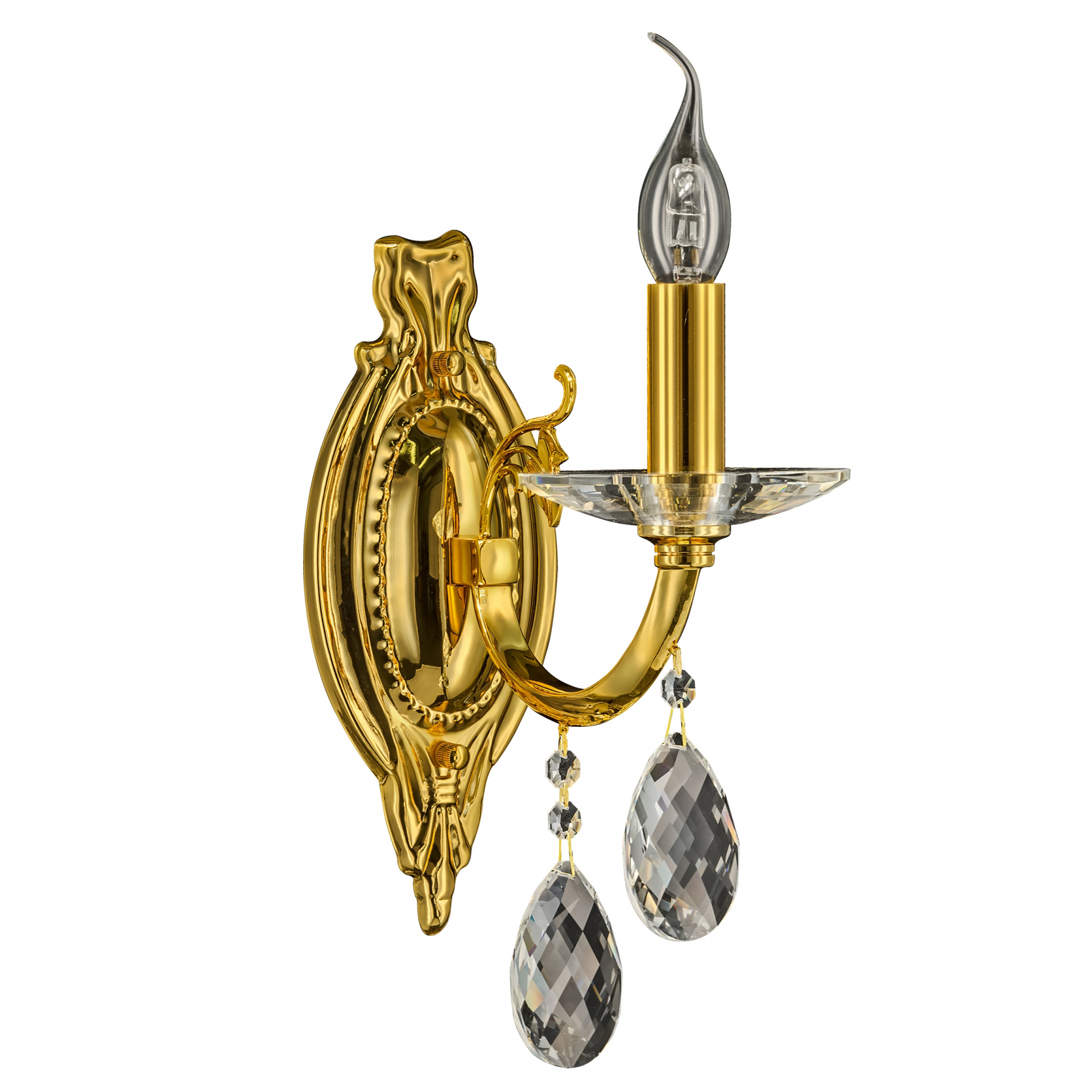 Бра Stregaro 1х60W E14 золото Osgona 694612, купить в СПб, Москве, с доставкой, Санкт-Петербург, интернет-магазин люстр и светильников Starlight, фото в жизни