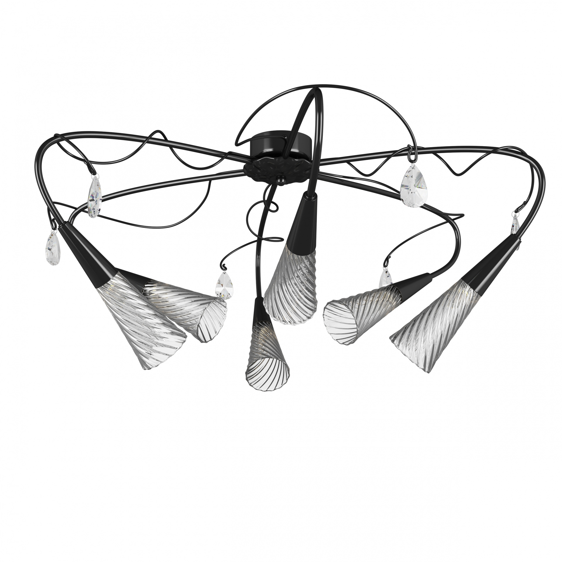 Люстра потолочная Aereo 6х25W G9 черный Lightstar 711067, купить в СПб, Москве, с доставкой, Санкт-Петербург, интернет-магазин люстр и светильников Starlight, фото в жизни