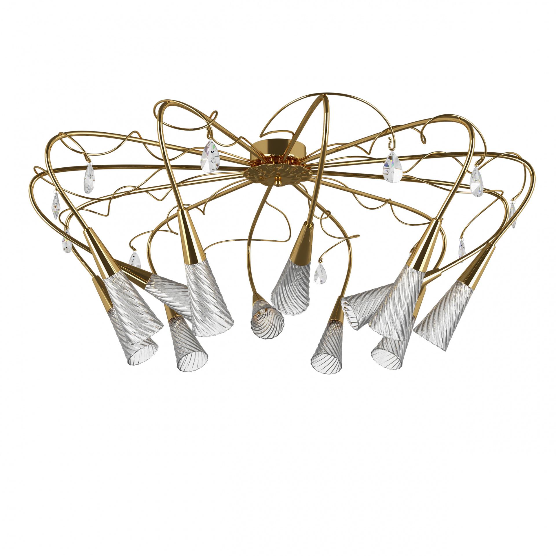 Люстра потолочная Aereo 12х25W G9 gold Lightstar 711122, купить в СПб, Москве, с доставкой, Санкт-Петербург, интернет-магазин люстр и светильников Starlight, фото в жизни