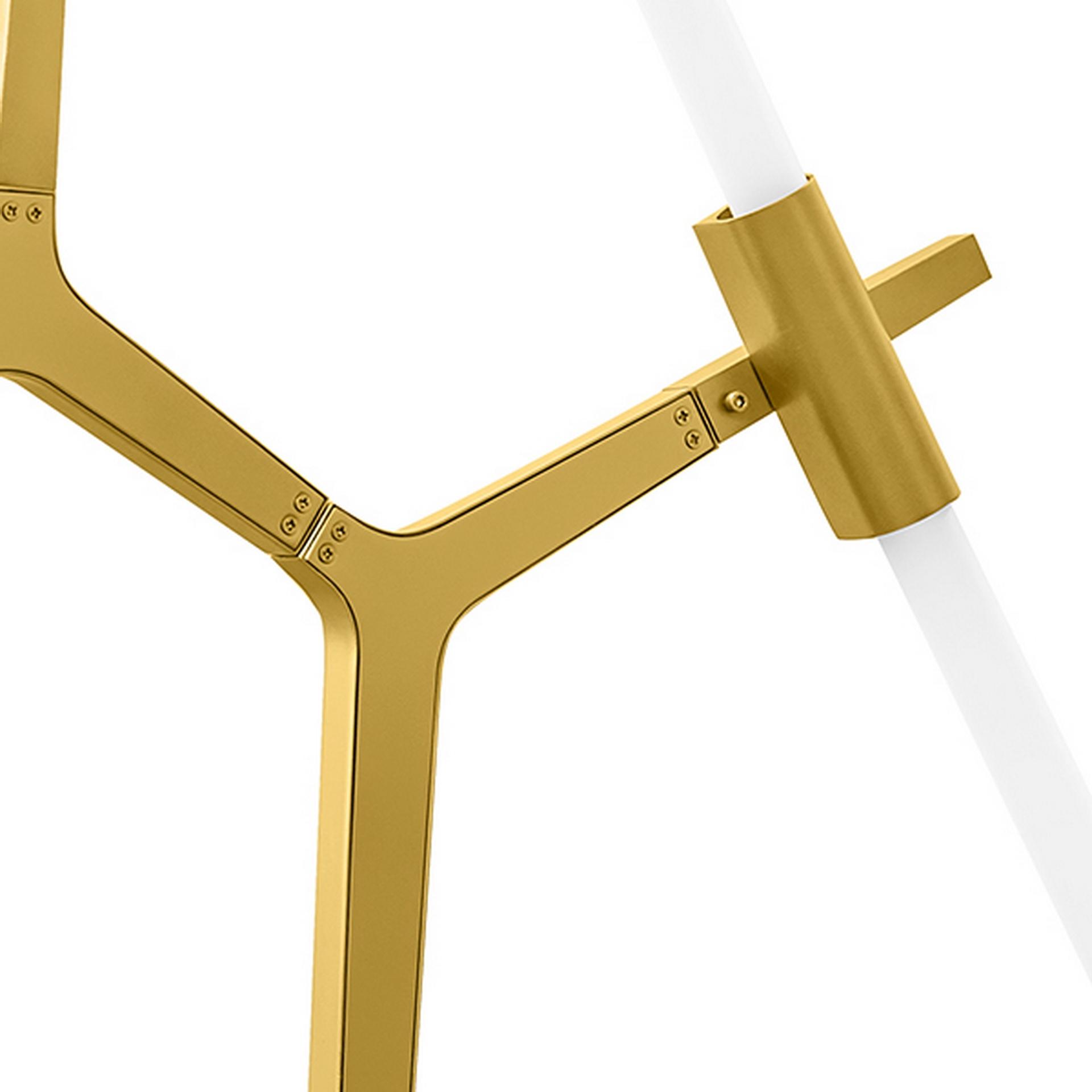 Подвесная люстра STRUTTURA LightStar 742063 цвет - матовое золото, купить в СПб, Москве, с доставкой, Санкт-Петербург, интернет-магазин люстр и светильников Starlight, фото в жизни