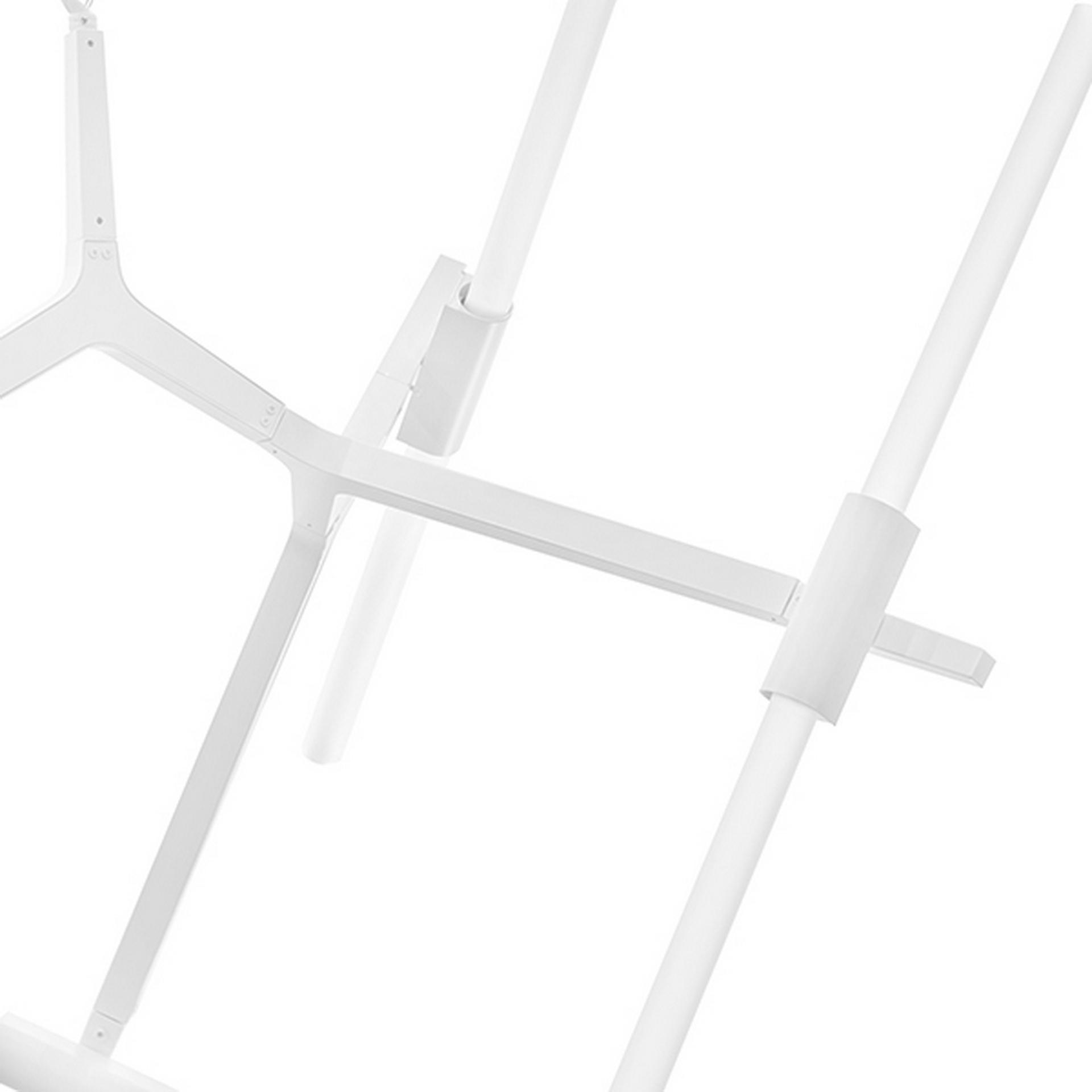Подвесная люстра STRUTTURA LightStar 742106 цвет - белый матовый, купить в СПб, Москве, с доставкой, Санкт-Петербург, интернет-магазин люстр и светильников Starlight, фото в жизни