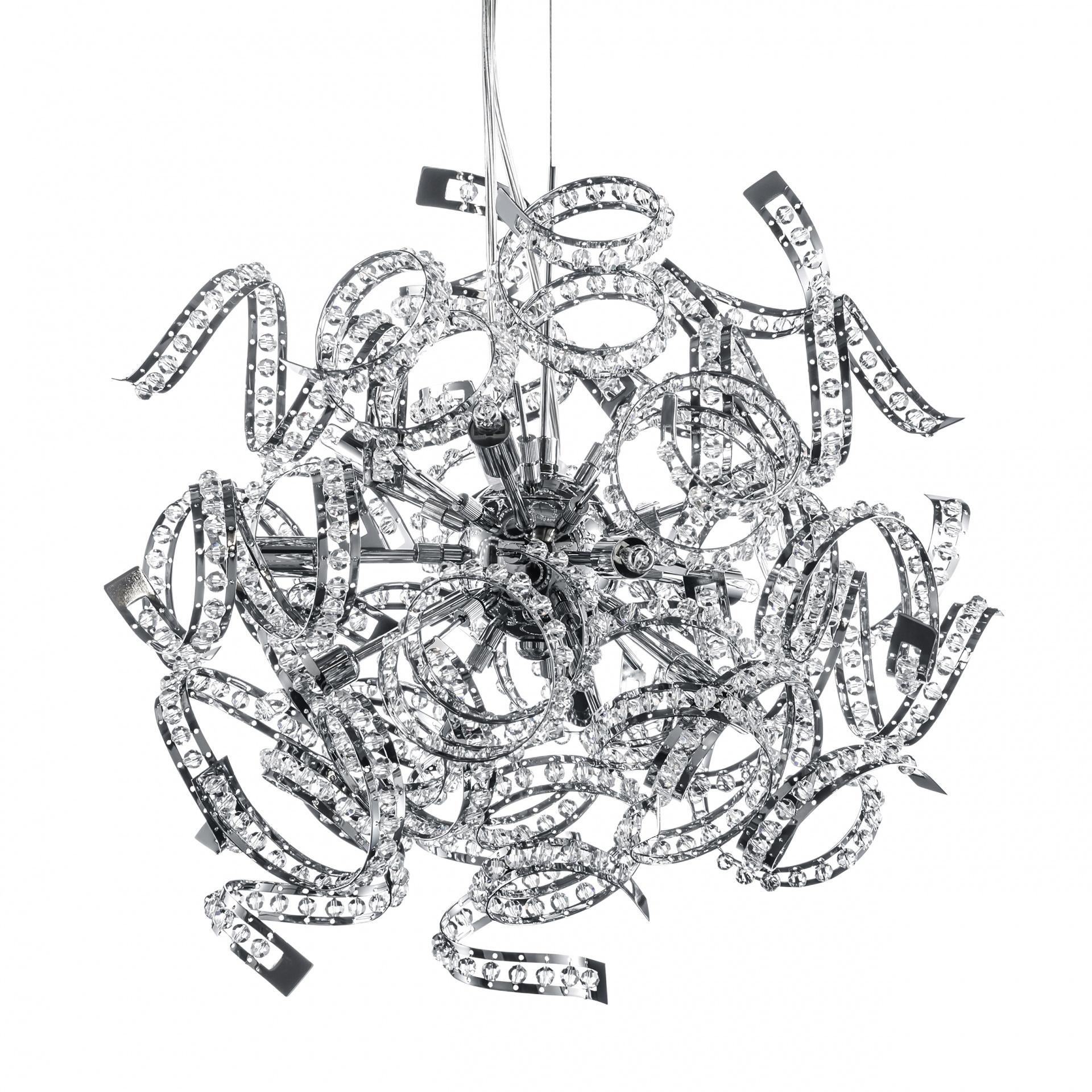 Люстра подвесная Spider 9х40W G9 хром Lightstar 742194, купить в СПб, Москве, с доставкой, Санкт-Петербург, интернет-магазин люстр и светильников Starlight, фото в жизни