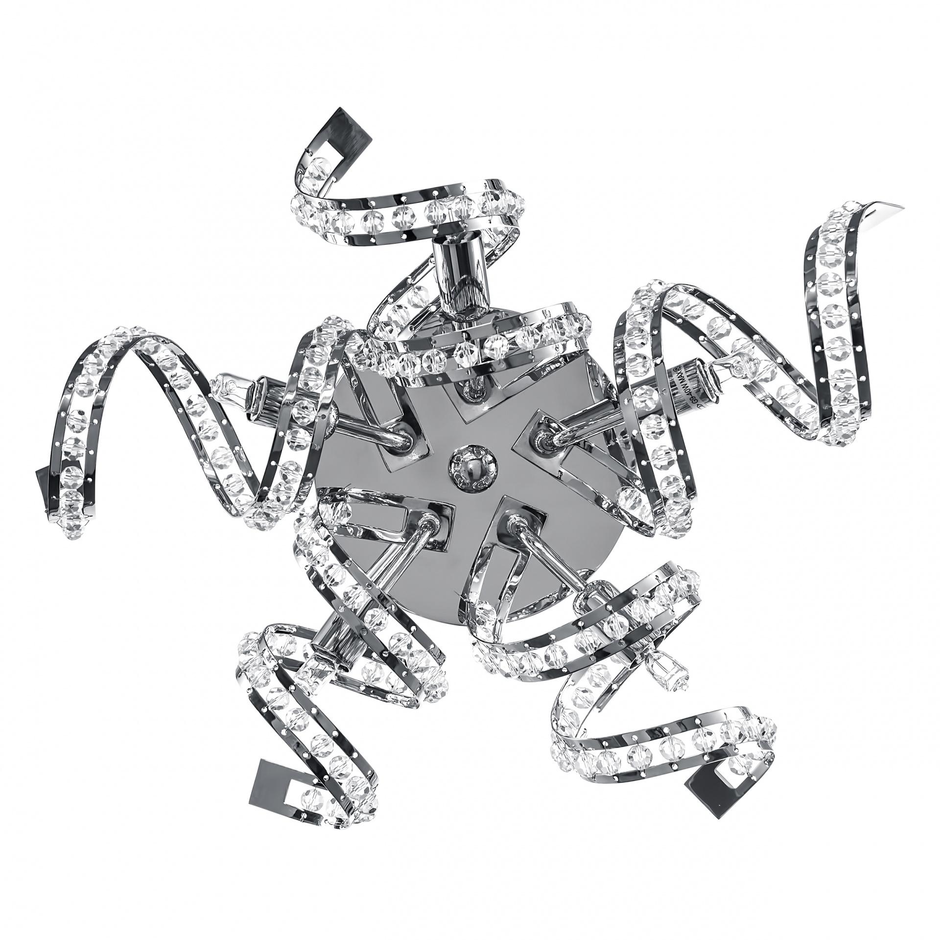 Бра Spider 5х40W G9 хром Lightstar 742654, купить в СПб, Москве, с доставкой, Санкт-Петербург, интернет-магазин люстр и светильников Starlight, фото в жизни