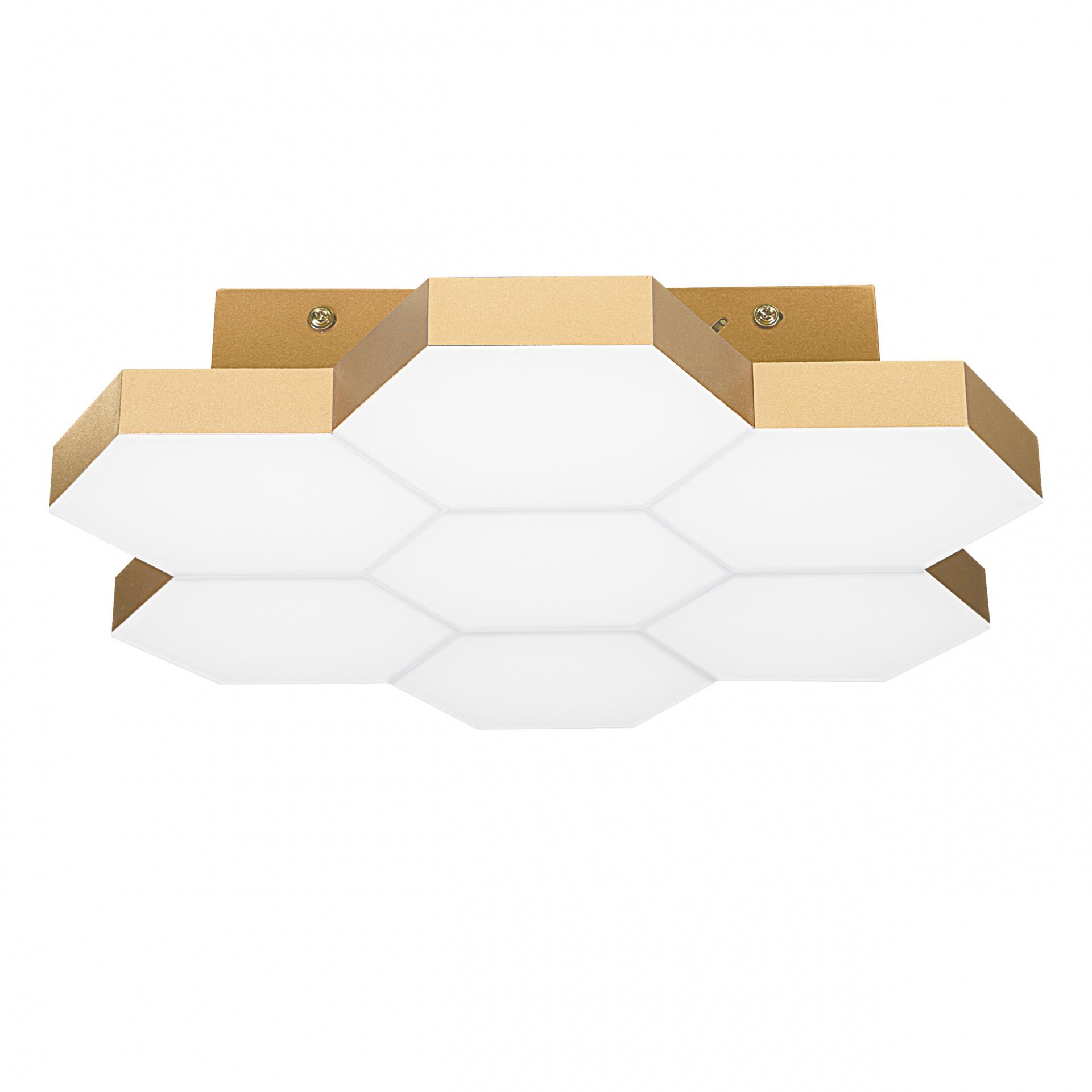 Светильник потолочный Favo LED-35W 1680LM satin gold 4000K Lightstar 750073, купить в СПб, Москве, с доставкой, Санкт-Петербург, интернет-магазин люстр и светильников Starlight, фото в жизни