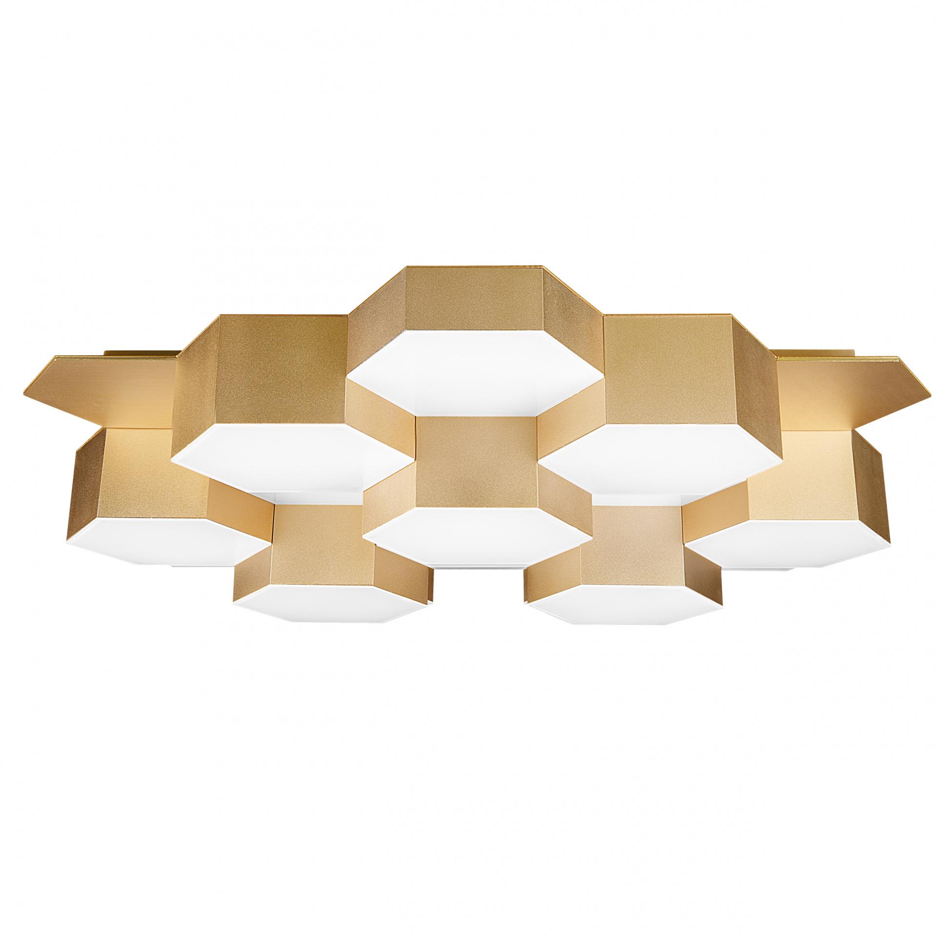 Светильник потолочный Favo LED-80W 3840LM satin gold 4000K Lightstar 750163, купить в СПб, Москве, с доставкой, Санкт-Петербург, интернет-магазин люстр и светильников Starlight, фото в жизни