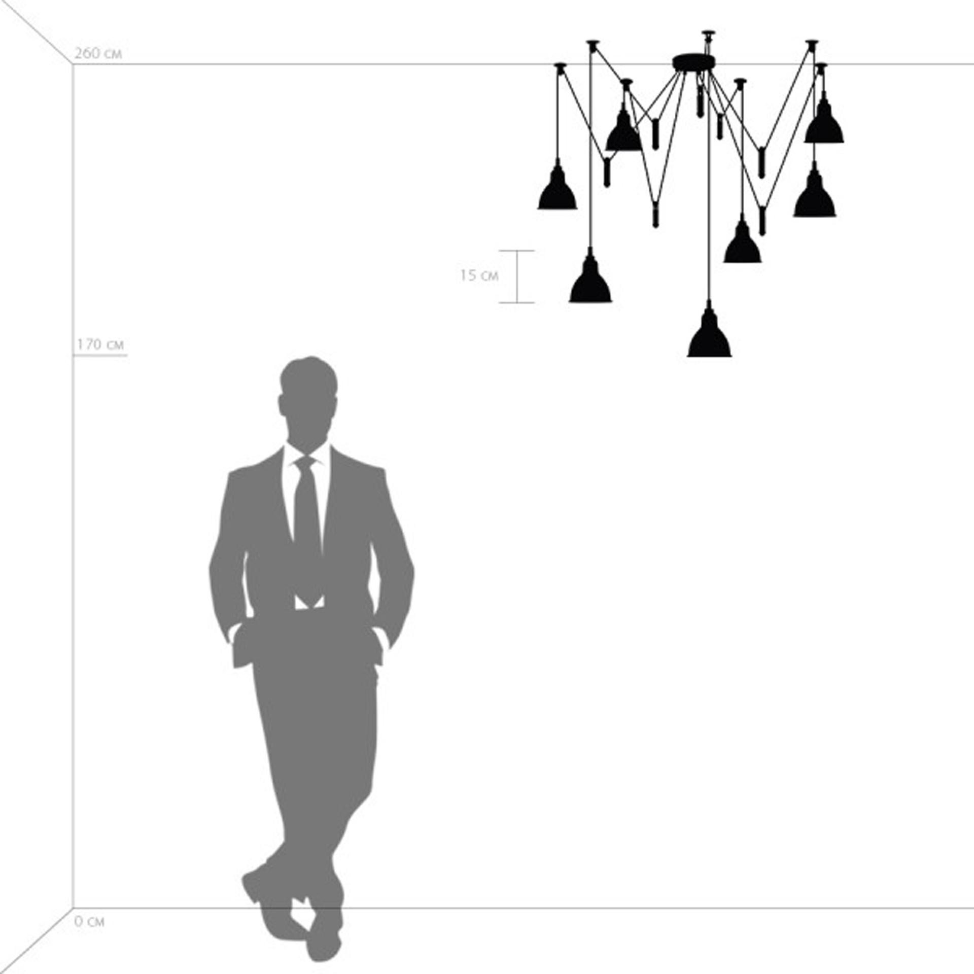 Люстра подвесная ACROBATA 7x40W E14 черный Lightstar 761077, купить в СПб, Москве, с доставкой, Санкт-Петербург, интернет-магазин люстр и светильников Starlight, фото в жизни