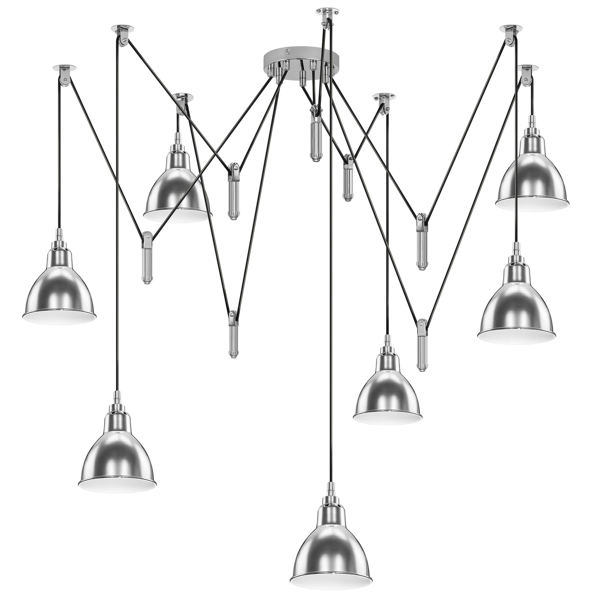 Люстра подвесная ACROBATA 7x40W E14 хром Lightstar 761074, купить в СПб, Москве, с доставкой, Санкт-Петербург, интернет-магазин люстр и светильников Starlight, фото в жизни