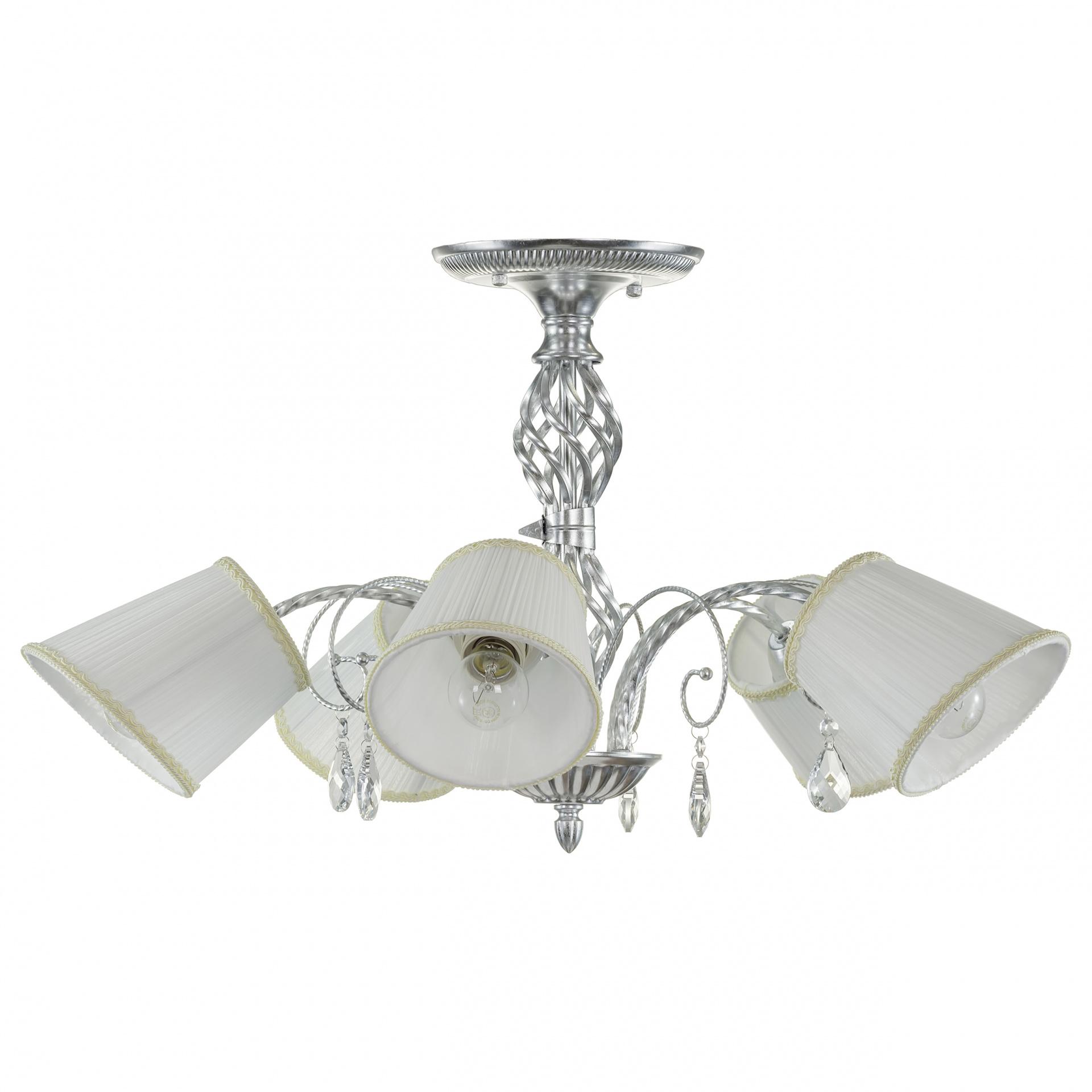Люстра потолочная Esedra 5x40W E27 silver foil ткань Lightstar 796059, купить в СПб, Москве, с доставкой, Санкт-Петербург, интернет-магазин люстр и светильников Starlight, фото в жизни
