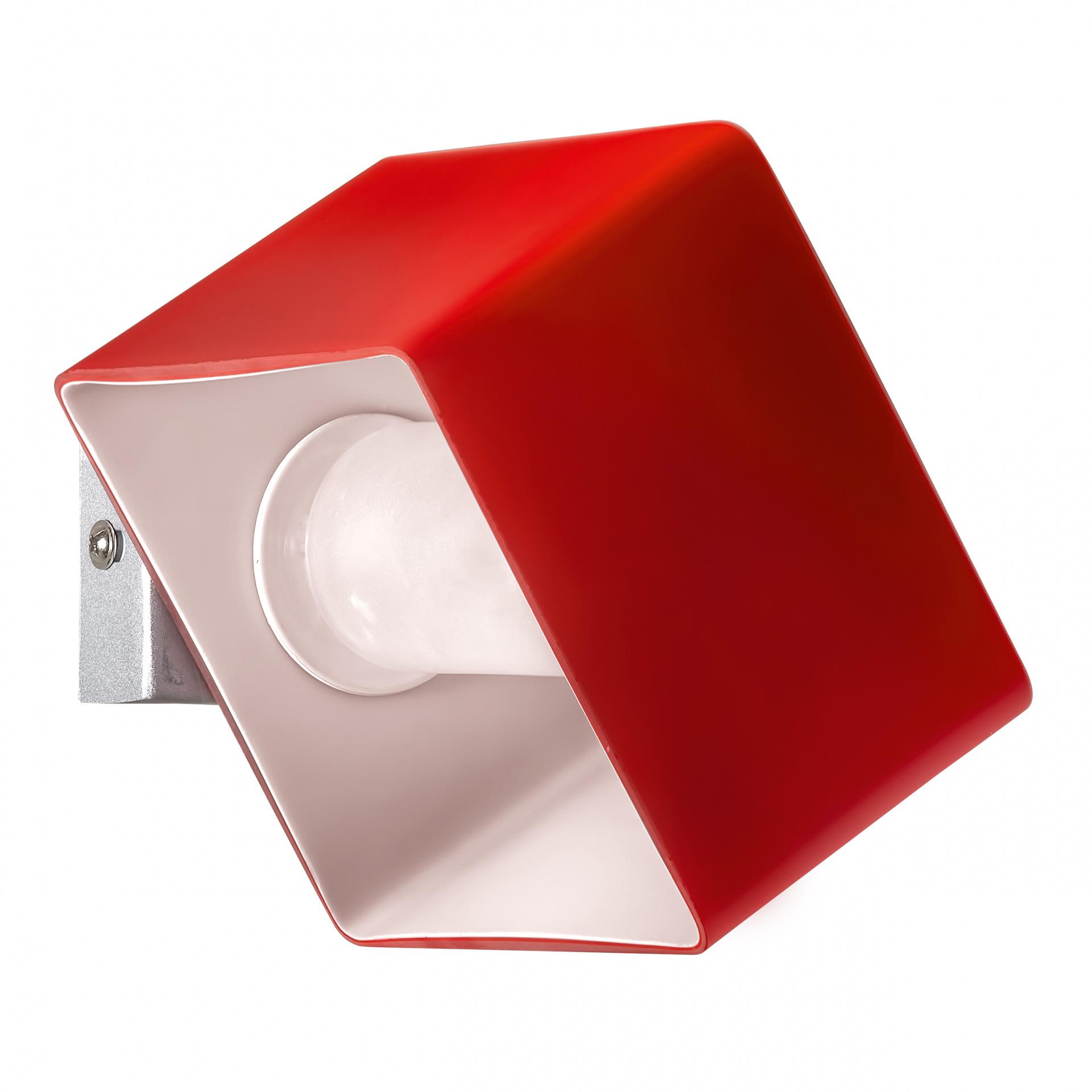 Светильник настенный Pezzo 1х40W G9 хром/красный Lightstar 801612, купить в СПб, Москве, с доставкой, Санкт-Петербург, интернет-магазин люстр и светильников Starlight, фото в жизни
