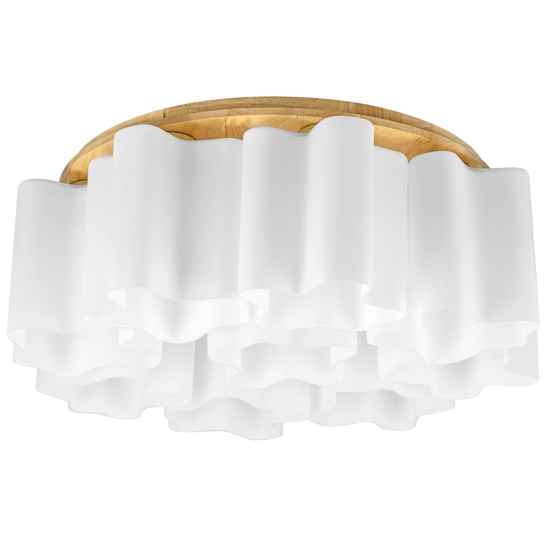 Люстра потолочная NUBI Legno 9x40W E27 светлое дерево / белый Lightstar 802095, купить в СПб, Москве, с доставкой, Санкт-Петербург, интернет-магазин люстр и светильников Starlight, фото в жизни