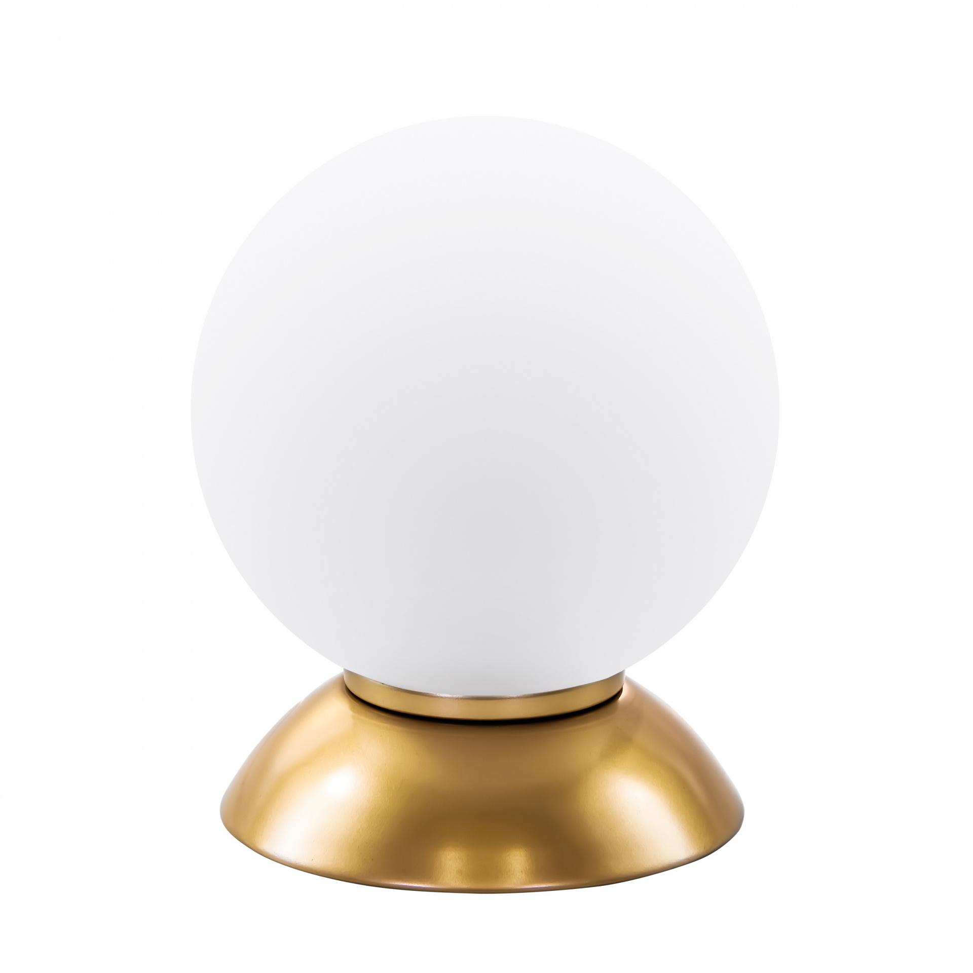 Настольная лампа Globo 1х40W E14 gold / white Lightstar 813912, купить в СПб, Москве, с доставкой, Санкт-Петербург, интернет-магазин люстр и светильников Starlight, фото в жизни