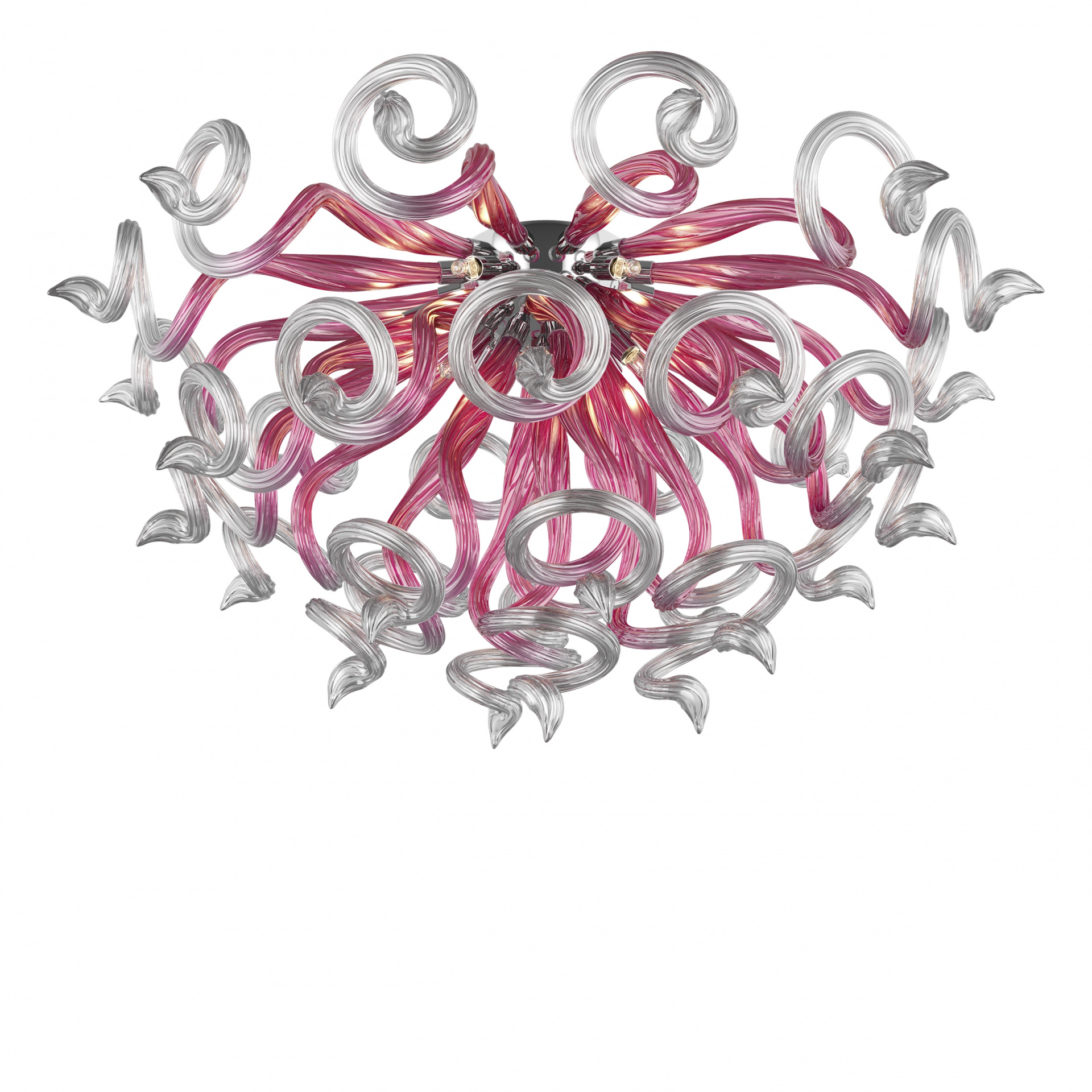 Люстра потолочная Medusa 9x40W G9 розовый / прозрачный Lightstar 890092, купить в СПб, Москве, с доставкой, Санкт-Петербург, интернет-магазин люстр и светильников Starlight, фото в жизни
