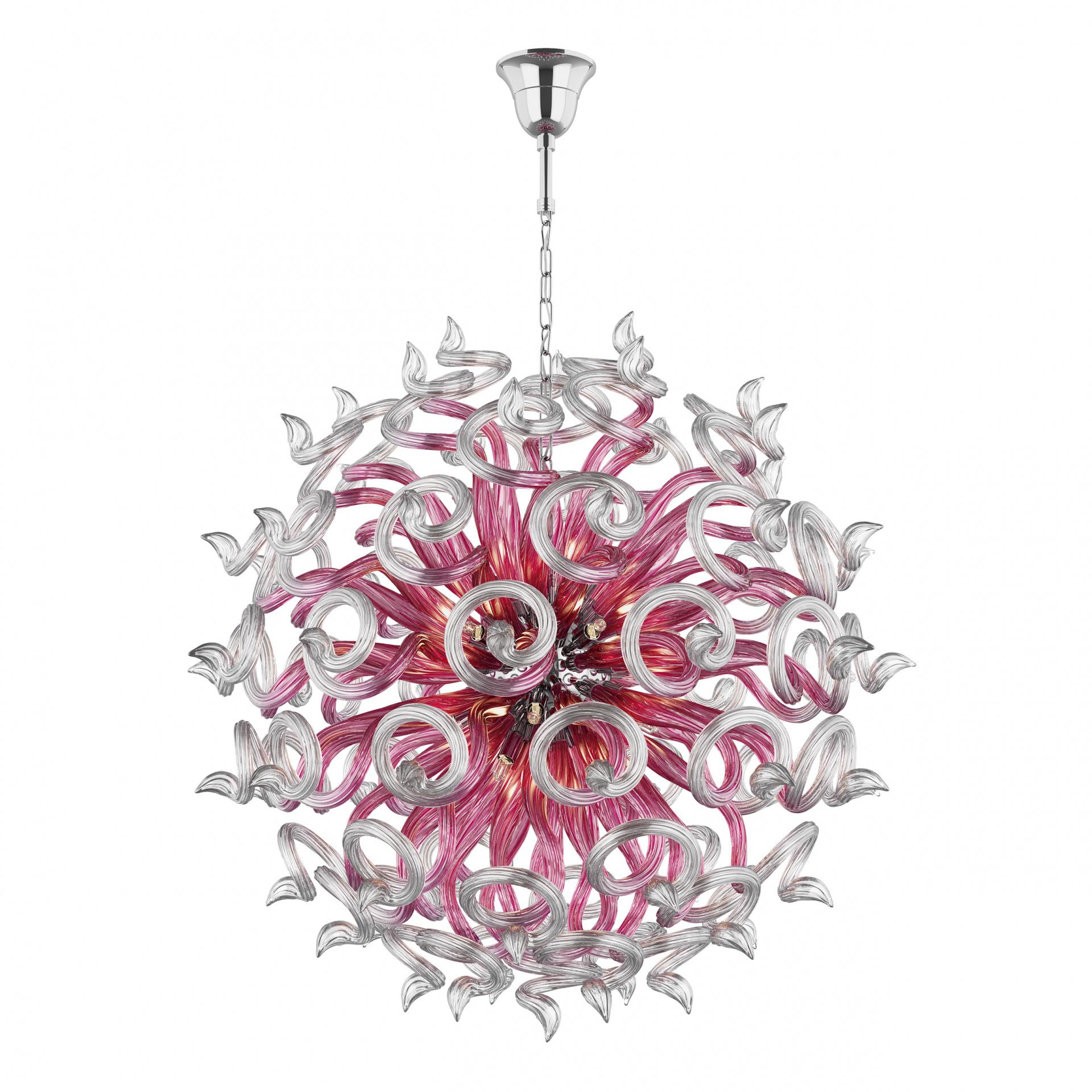 Люстра подвесная Medusa 18x40W G9 розовый Lightstar 890182, купить в СПб, Москве, с доставкой, Санкт-Петербург, интернет-магазин люстр и светильников Starlight, фото в жизни
