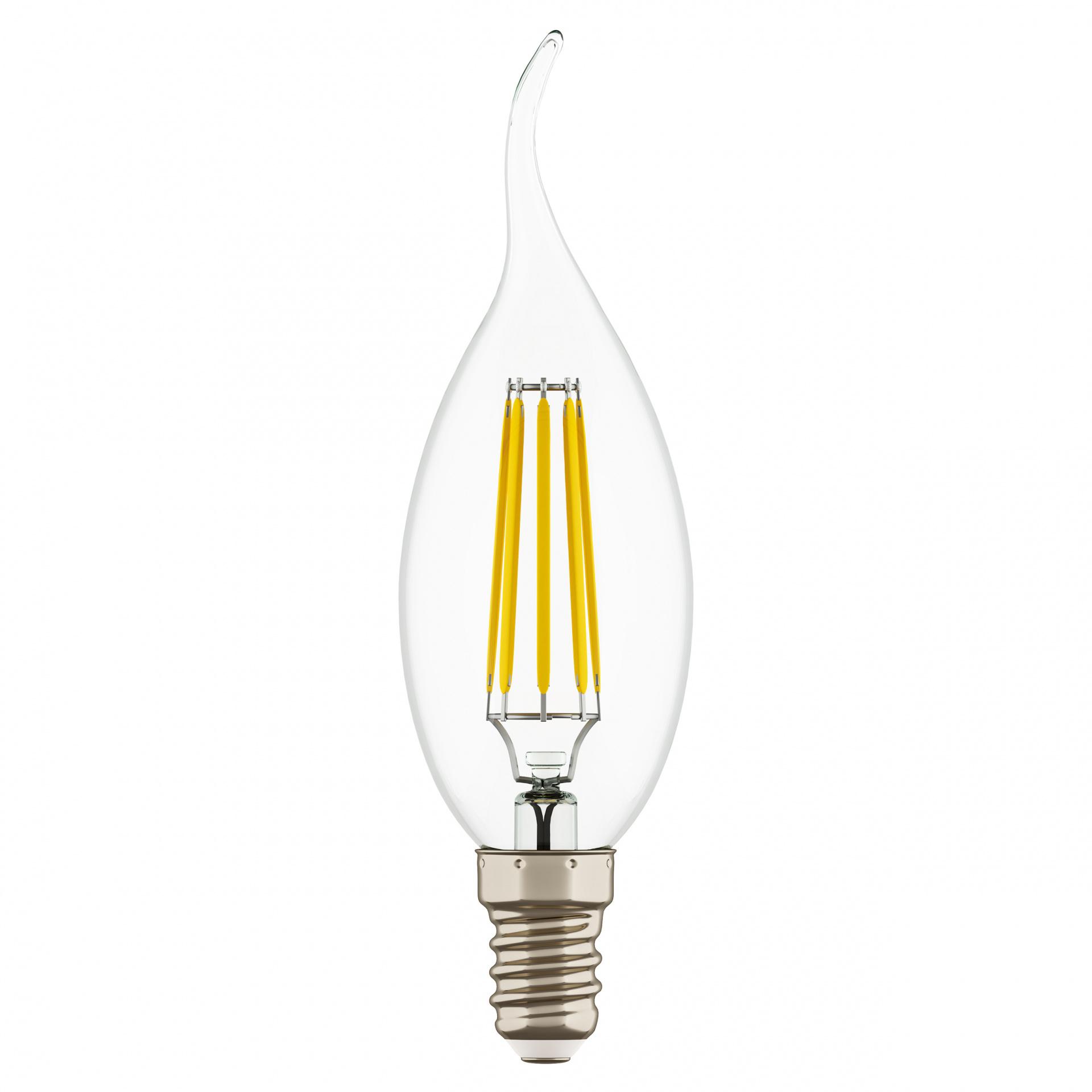 Лампа LED Filament 220V CA35 E14 6W=65W 400-430LM 360G CL 4000K 30000H Lightstar 933604, купить в СПб, Москве, с доставкой, Санкт-Петербург, интернет-магазин люстр и светильников Starlight, фото в жизни