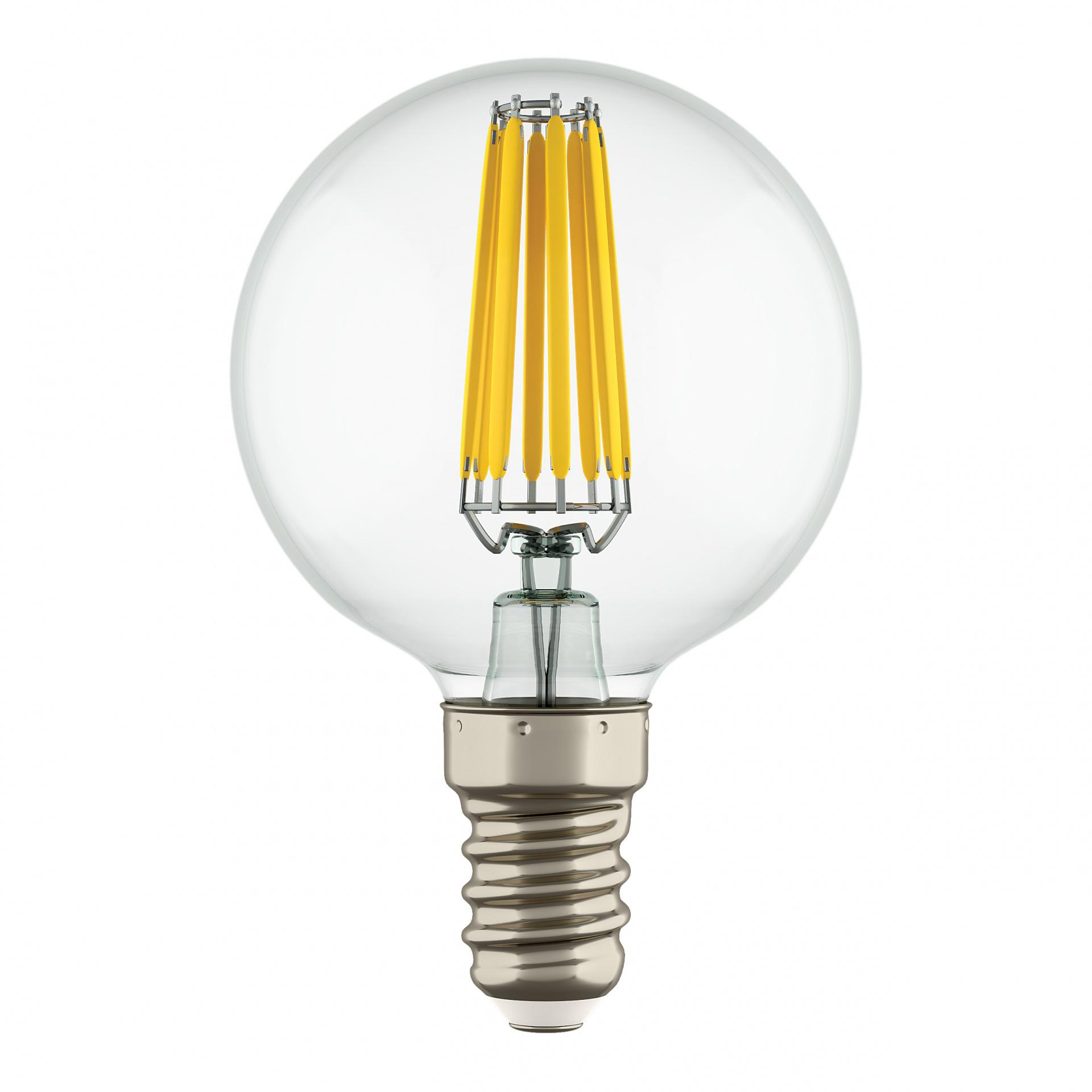 Лампа LED Filament 220V G50 E14 6W=65W 400-430LM 360G CL 3000K 30000H Lightstar 933802, купить в СПб, Москве, с доставкой, Санкт-Петербург, интернет-магазин люстр и светильников Starlight, фото в жизни