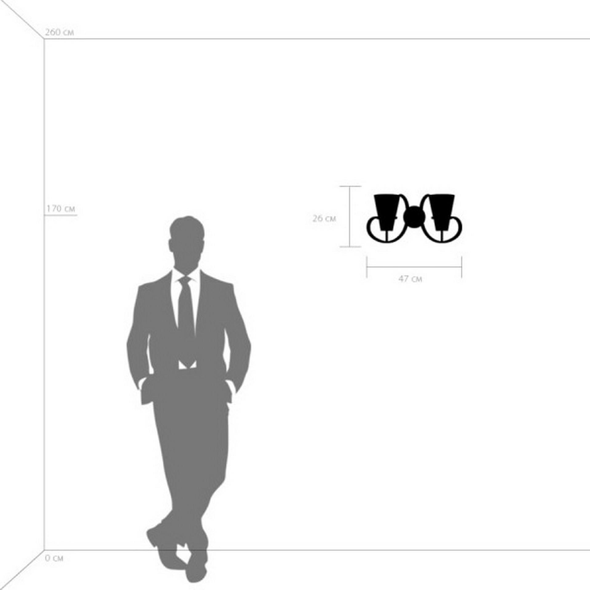 Бра FIACOLLA LightStar 733627 цвет - черный/белый, купить в СПб, Москве, с доставкой, Санкт-Петербург, интернет-магазин люстр и светильников Starlight, фото в жизни