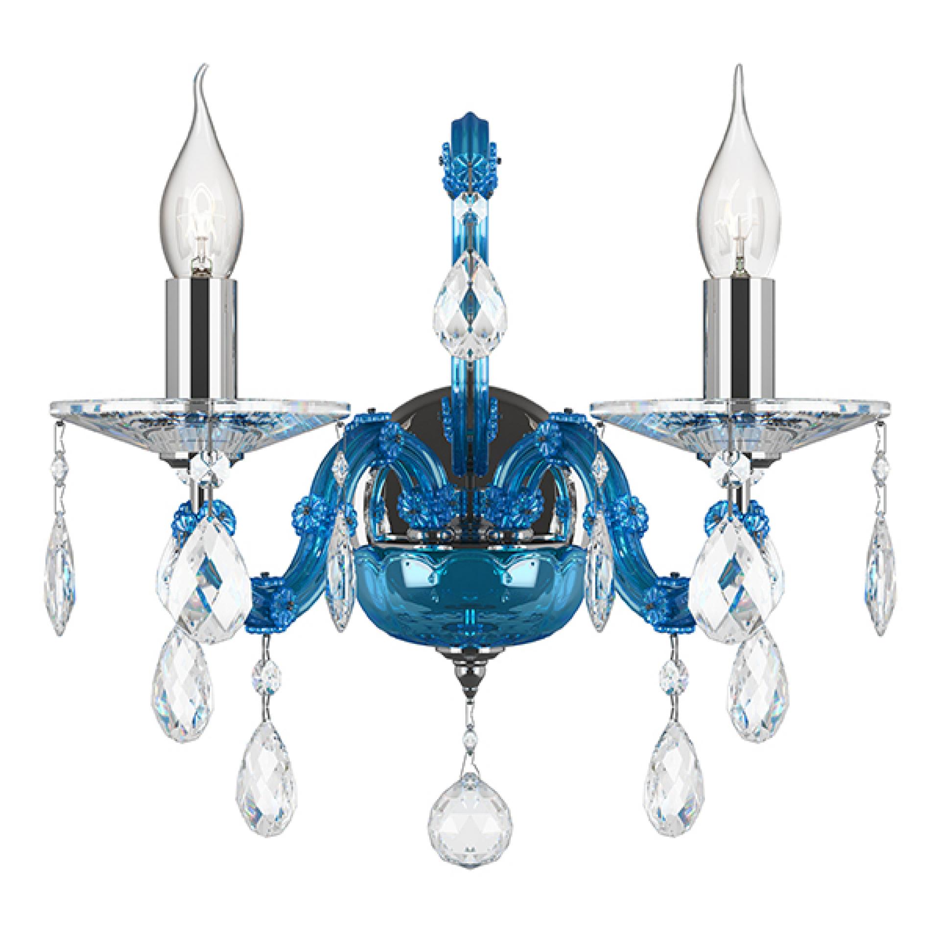 Бра Champa Blu 2х60W E14 голубой Osgona 698625, купить в СПб, Москве, с доставкой, Санкт-Петербург, интернет-магазин люстр и светильников Starlight, фото в жизни