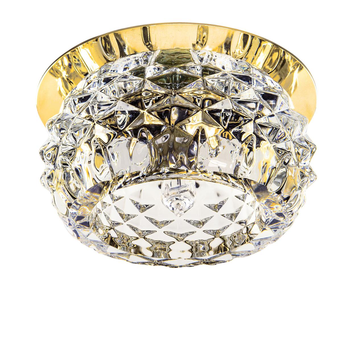 Светильник Cesare Sphe CR золото / прозрачный Lightstar 004252