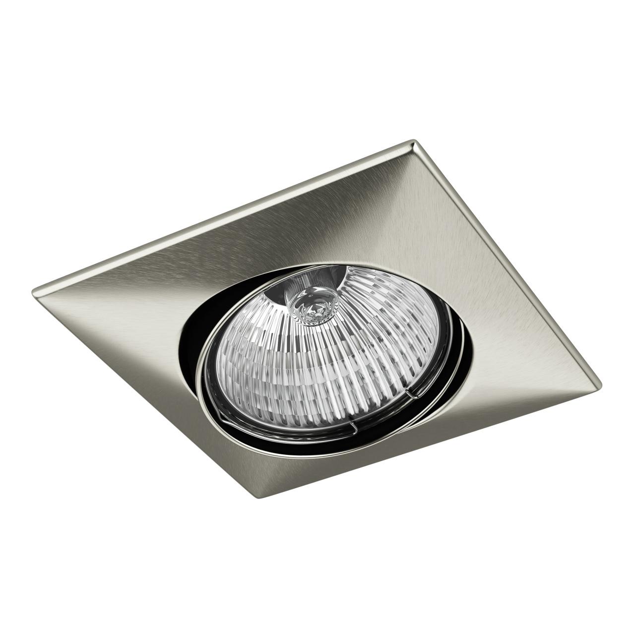 Светильник lega qua ADJ MR16 / HP16 никель Lightstar 011035