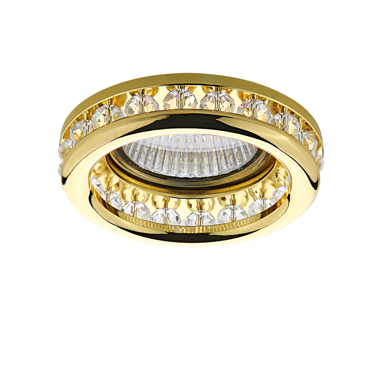Светильник Monilo INC MR16 / HP16 золото / прозрачный Lightstar 031702