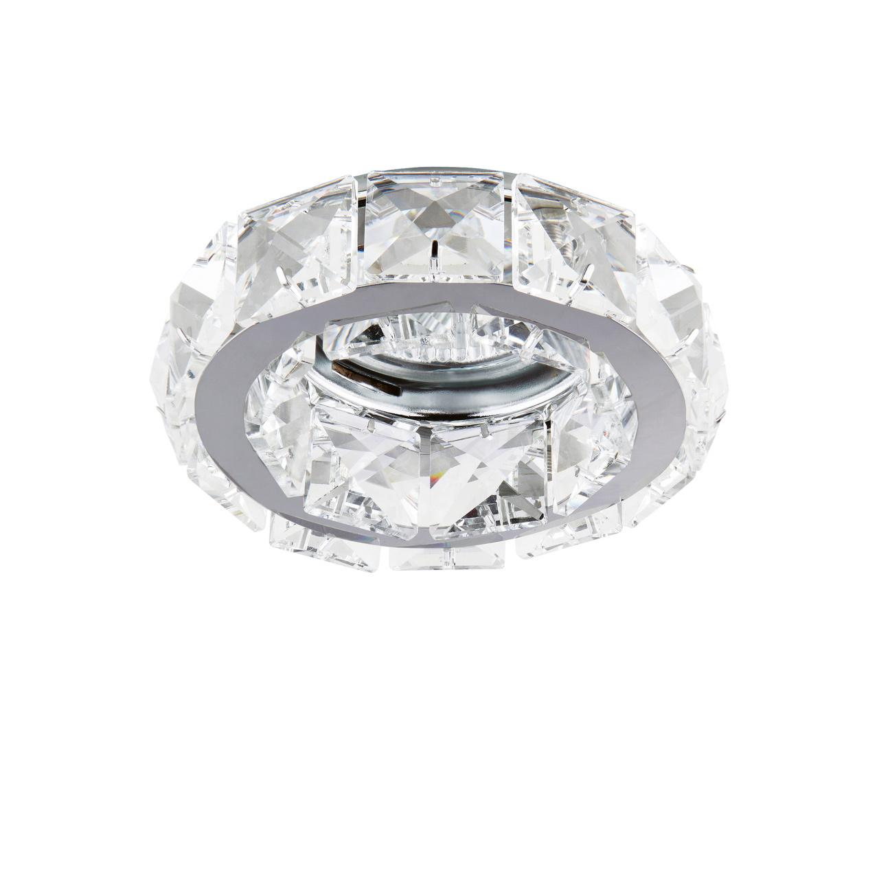 Светильник Onda MR16 / HP16 хром / хрусталь прозрачный Lightstar 032704