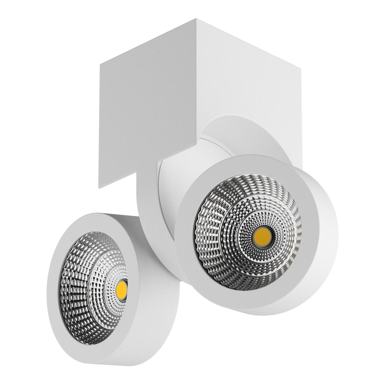Светильник Snodo LED 2*10W 1960LM 23G белый 4000K IP20 Lightstar 055364