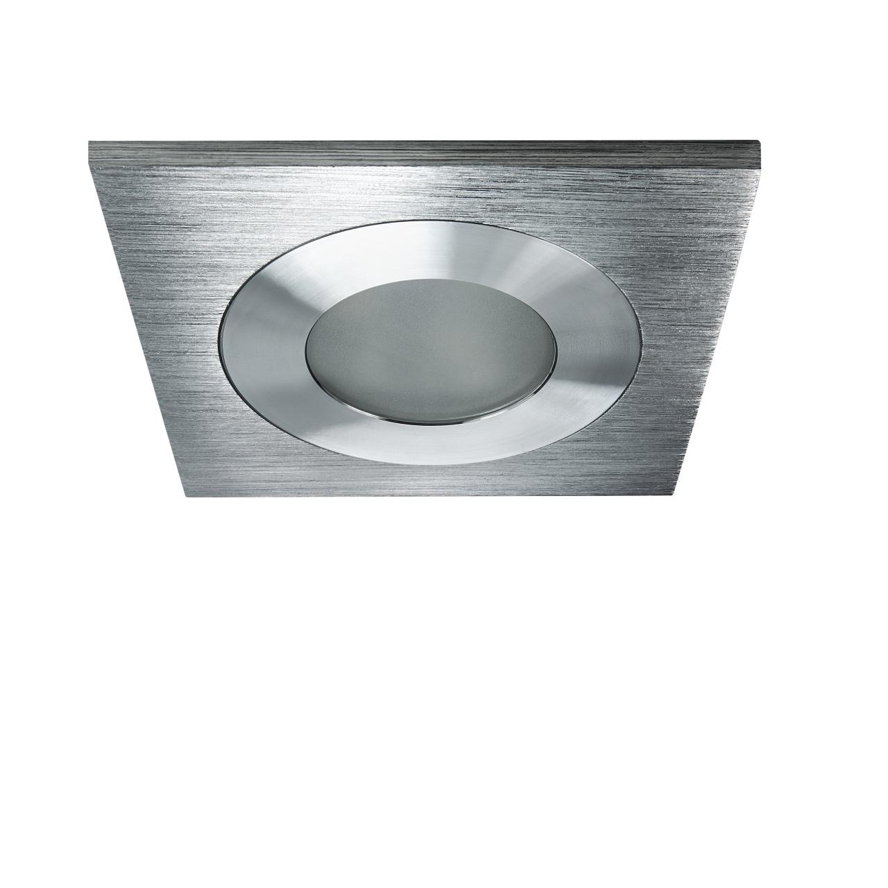 Светильник Leddy quad LED 3W 240LM алюминий 3000K в стену в подрозетник с трансф Lightstar 212180