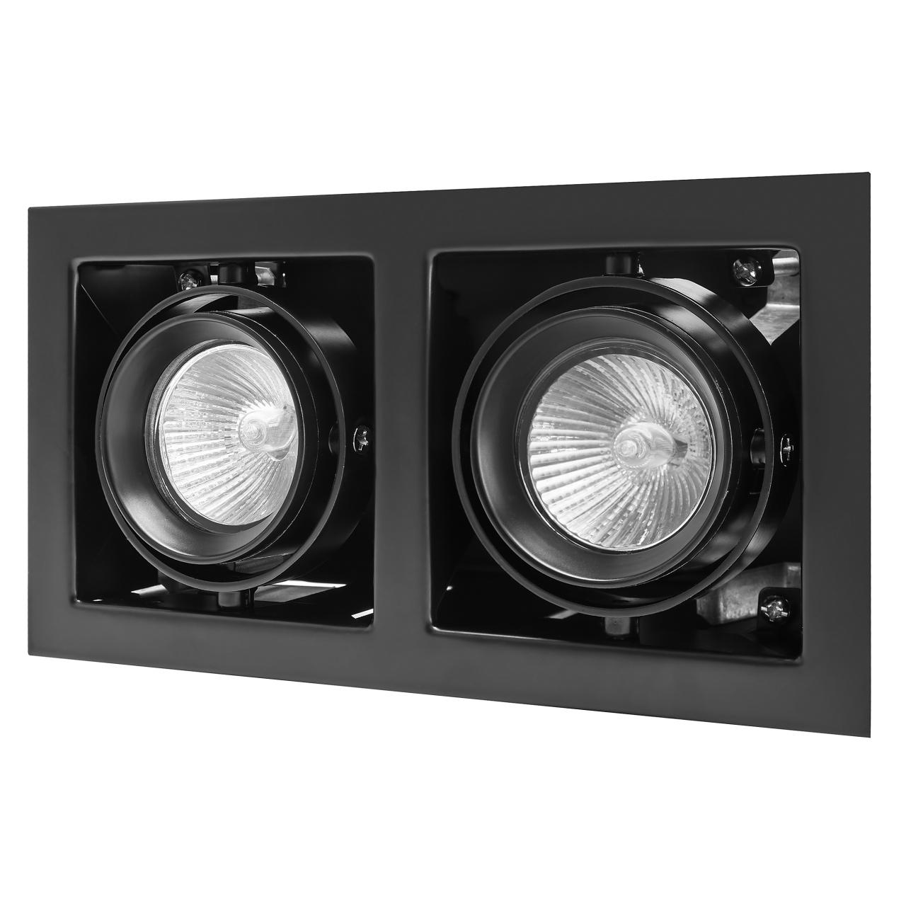 Светильник Cardano 16Х2 MR16 / HP16 черный Lightstar 214028