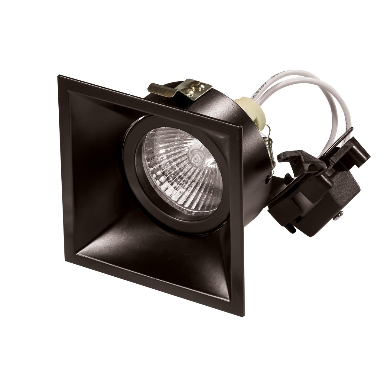 Светильник Domino quadro MR16 черный Lightstar 214507