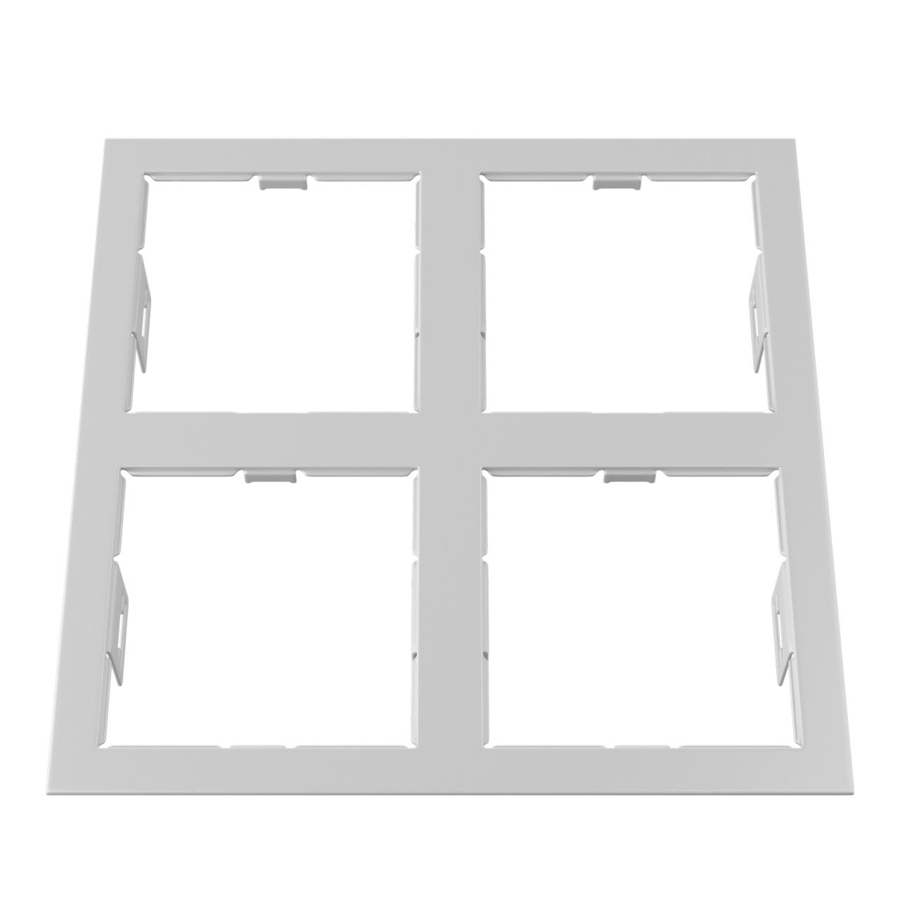 Рамка Domino quadro 2х2 MR16 белый Lightstar 214546