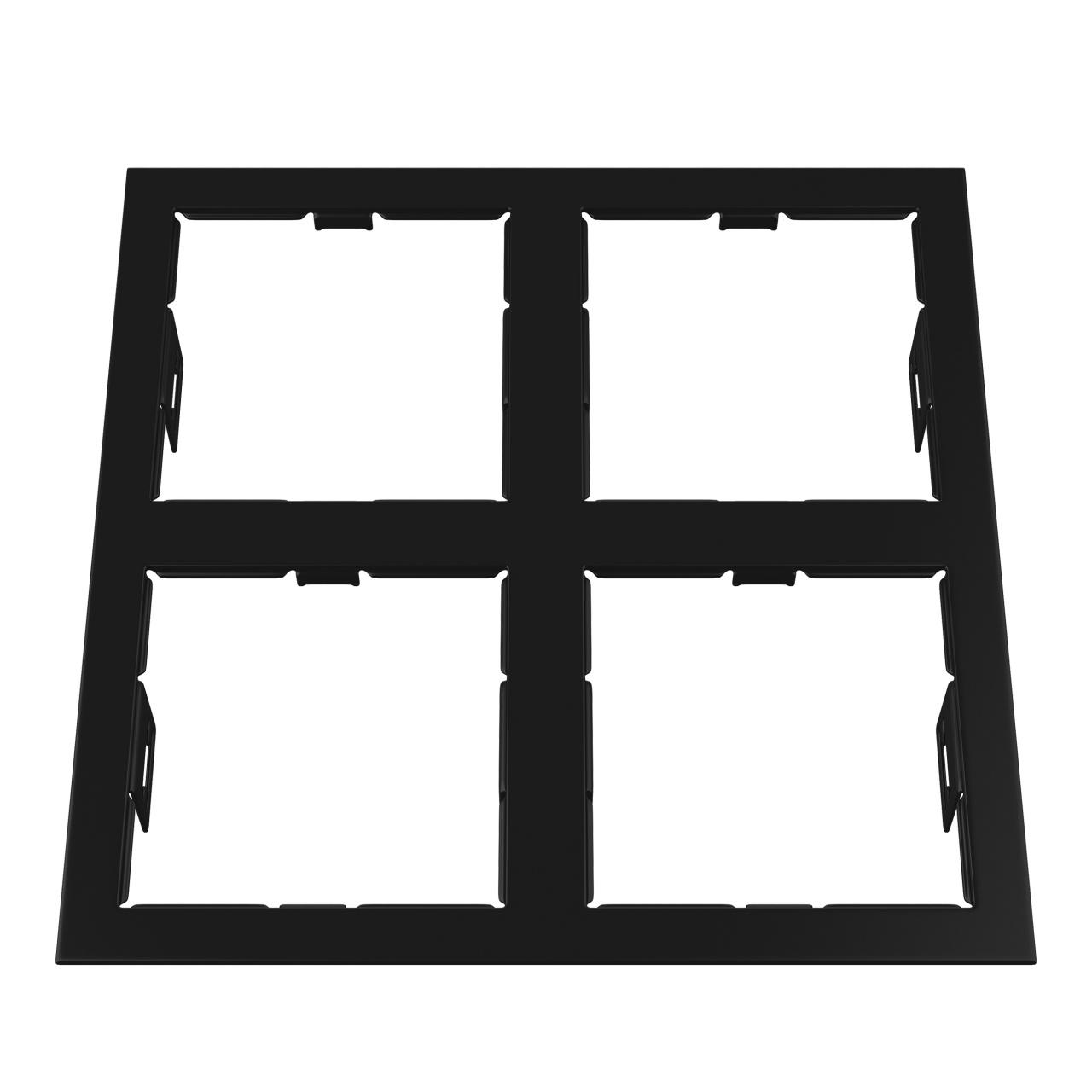 Рамка Domino quadro 2х2 MR16 черный Lightstar 214547