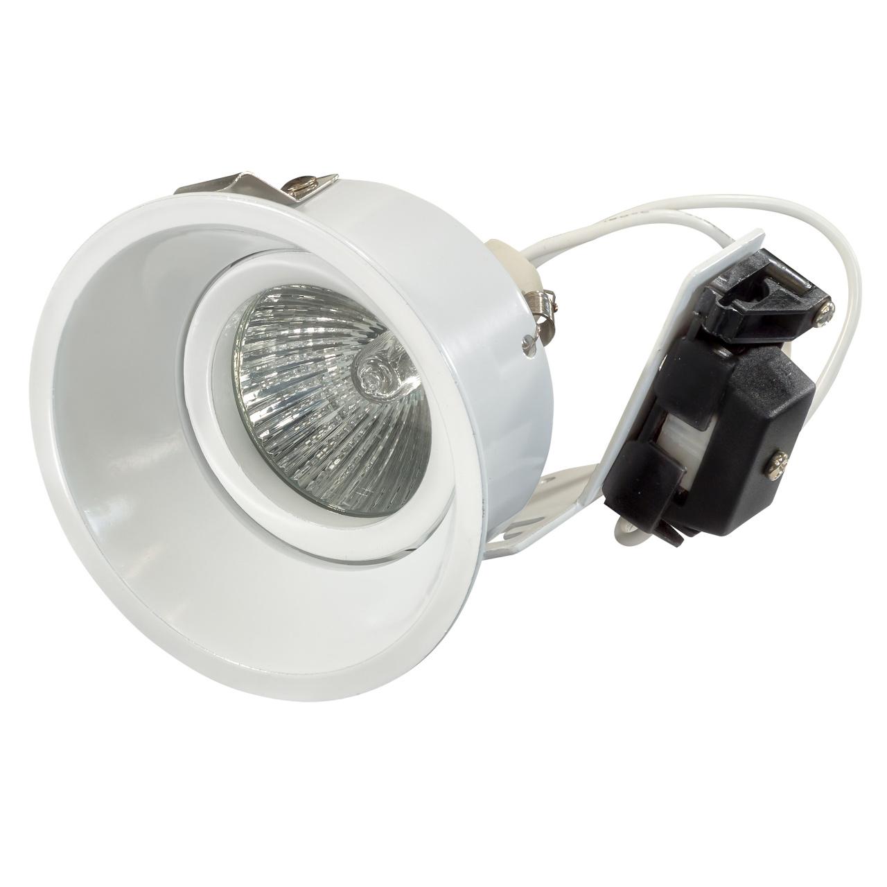 Светильник Domino round МR16 белый Lightstar 214606