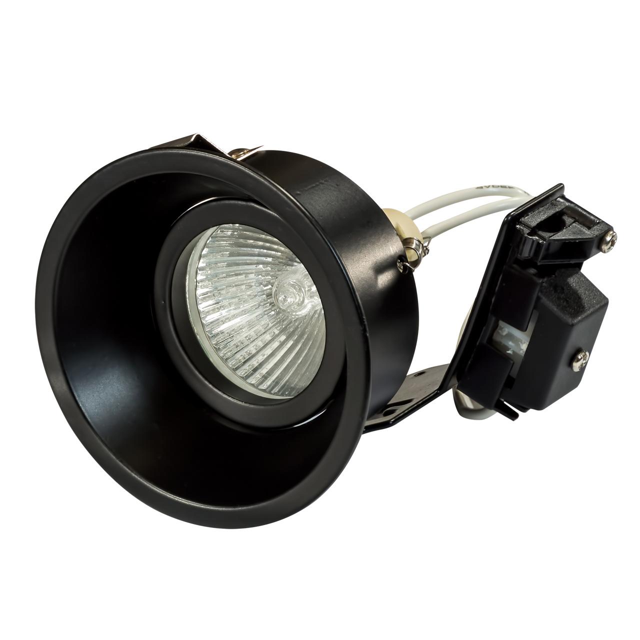 Светильник Domino round МR16 черный Lightstar 214607