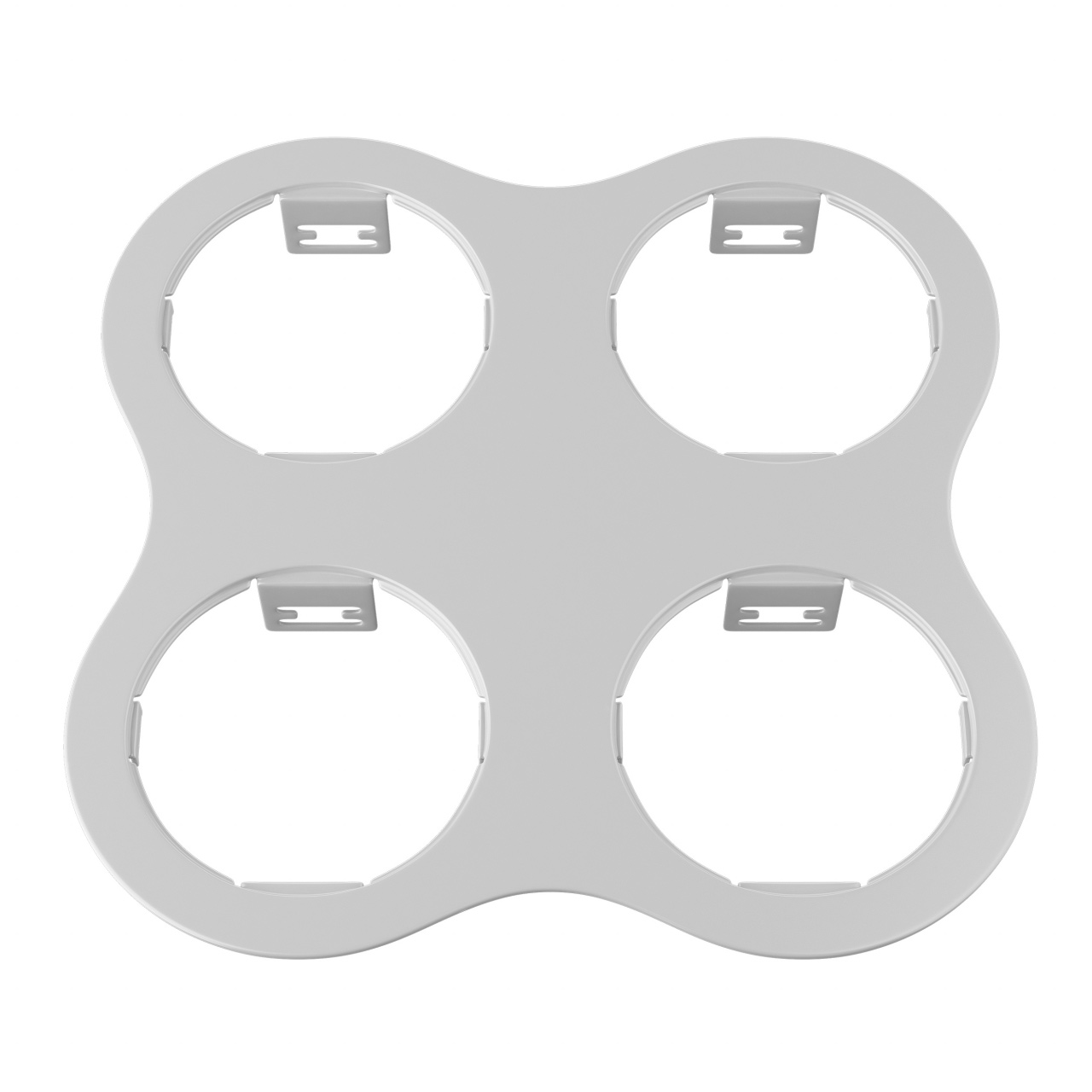 Рамка Domino round 2x2 МR16 белый Lightstar 214646