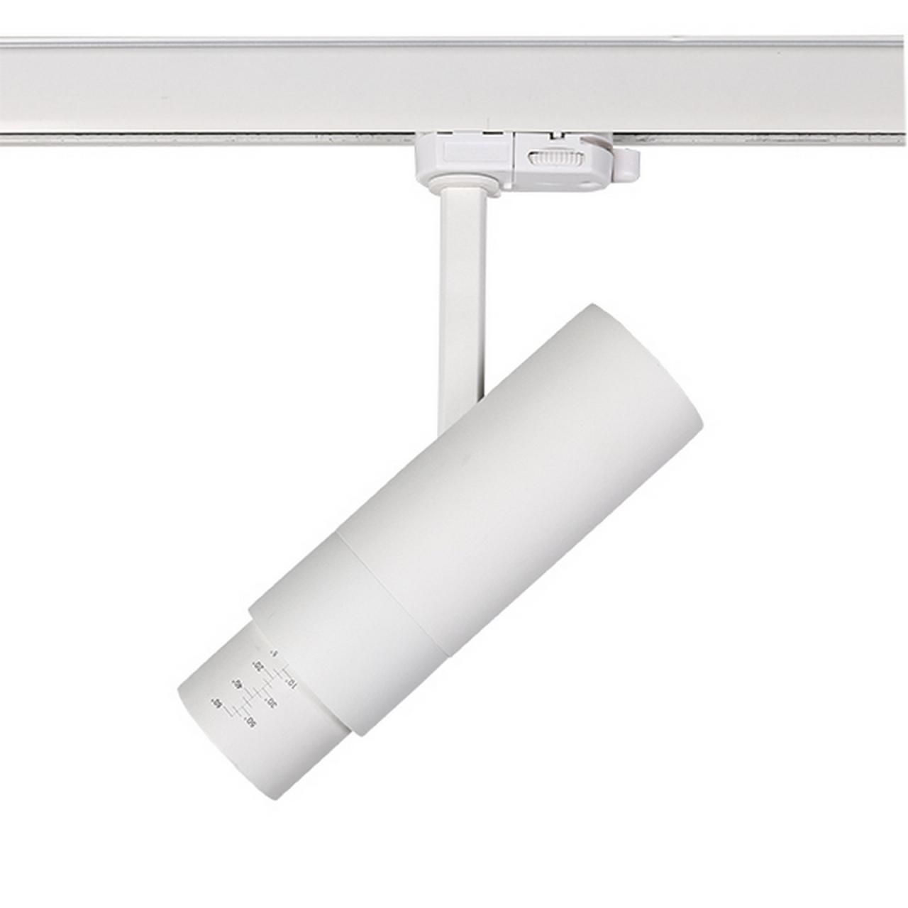 Светодиодный LED светильник для 3-фазного трека FUOCO 3000K Lightstar 215436