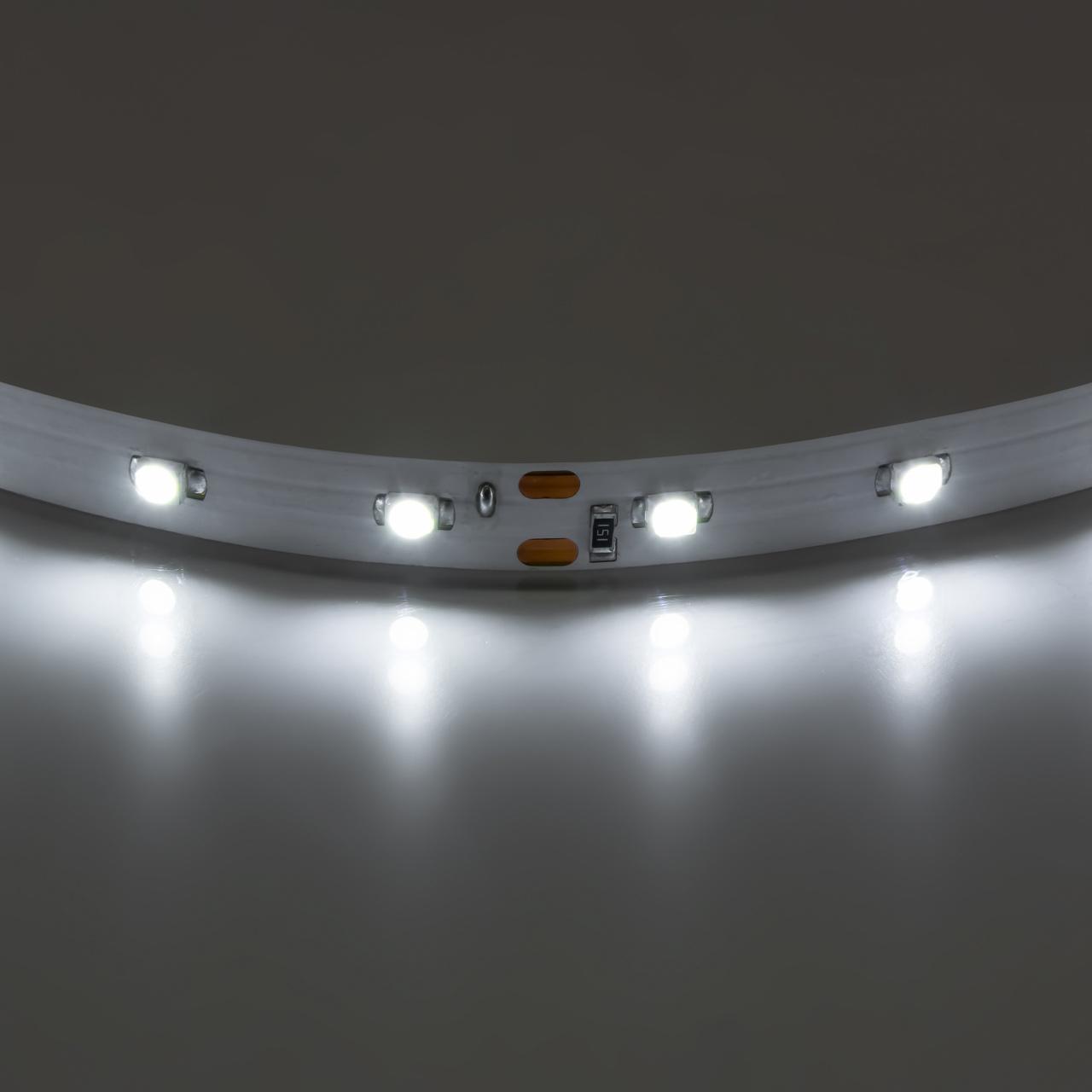 Лента 3528 LED 12V 4.8W 4200K-4500K 200m нейтральный белый свет Lightstar 400004