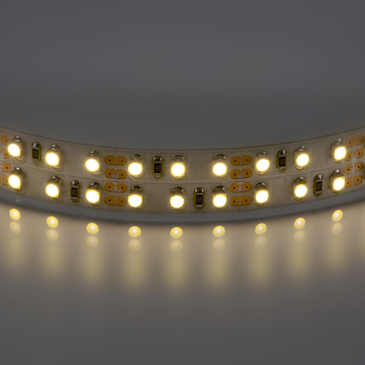 Лента 3528 LED 12V 19.2W 2700K-3000K 100m теплый белый свет Lightstar 400022
