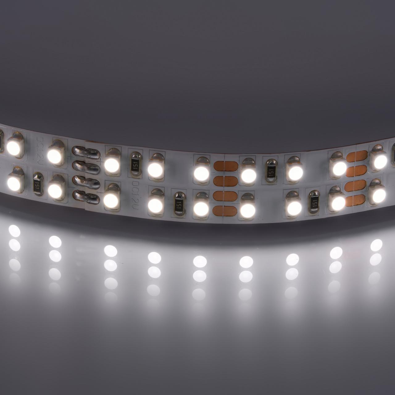 Лента 3528 LED 12V 19.2W 4200K-4500K 100m нейтральный белый цвет Lightstar 400024