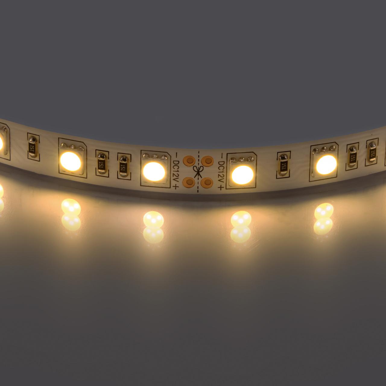 Лента 5050 LED 12V 14.4W 2700K-3000K 200m теплый белый свет Lightstar 400052