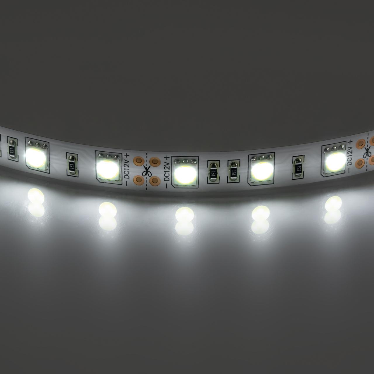 Лента 5050 LED 12V 14.4W 4200K-4500K 200m нейтральный белый свет Lightstar 400054
