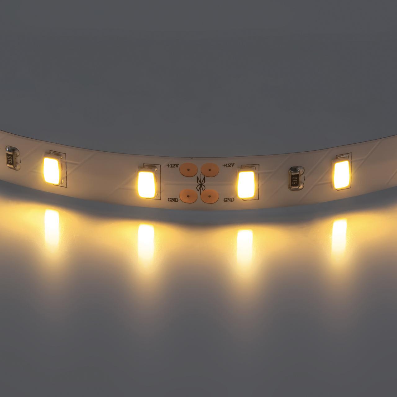 Лента 5630 LED 12V 28.8W 2700K-3000K 200m теплый белый свет Lightstar 400072