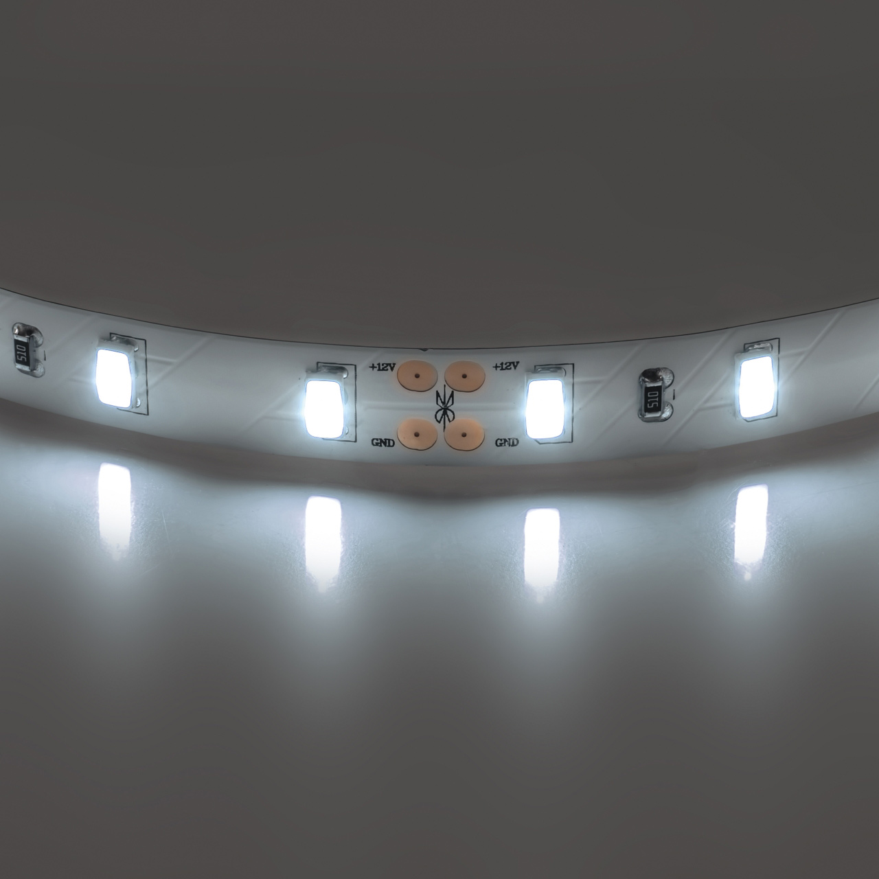 Лента 5630 LED 12V 28.8W 4000K 200m нейтральный белый свет Lightstar 400076