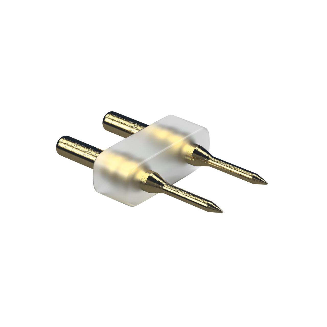 Соединитель 2-штырьковый для ленты 220 вольт 3528/60 3014/120 (питание-лента) Lightstar 408902