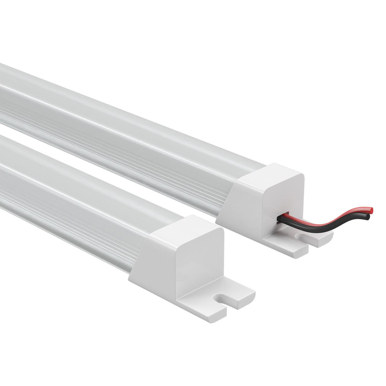 Лента в PVC-профиле Profiled 400014 12V 9.6W 120LED 4500K с прямоугольным рассеивателем, пластик, 1шт 1м Lightstar 409114
