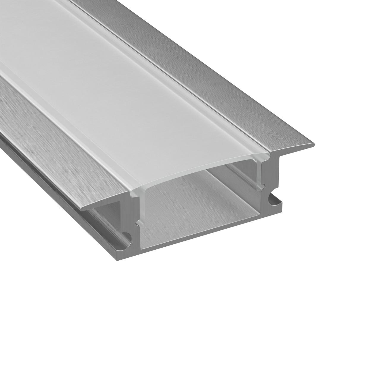 Профиль с прямоугольным рассеивателем для светодиодной ленты, алюминий, 1шт 3м Lightstar 409309